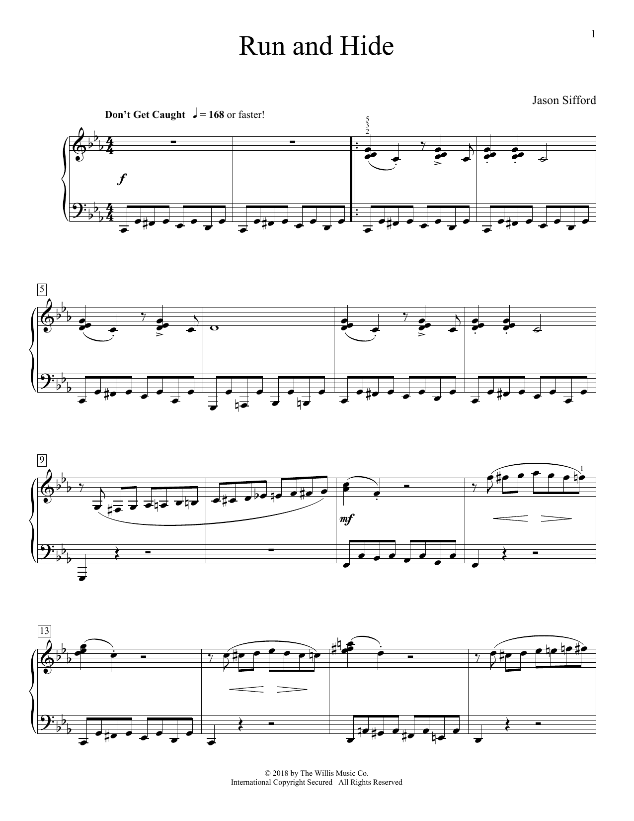 Run And Hide (Educational Piano)