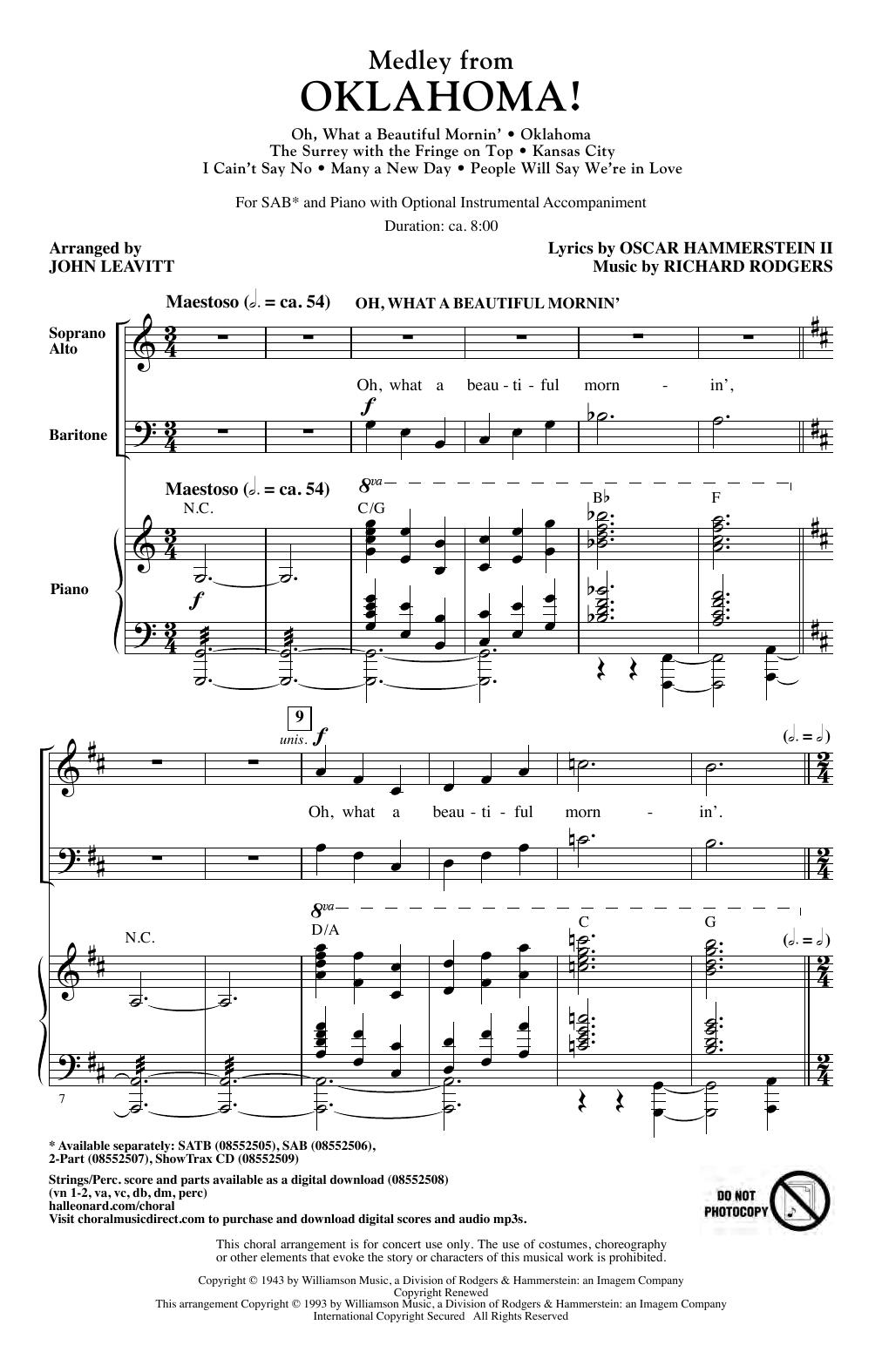 Oklahoma! (Medley) (arr. John Leavitt) Sheet Music