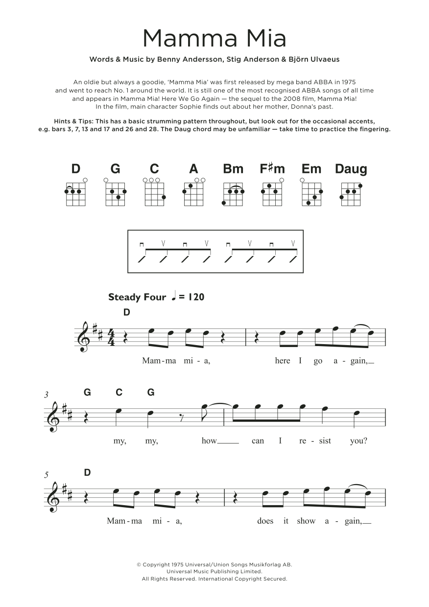 Mamma Mia (from Mamma Mia! Here We Go Again) Sheet Music