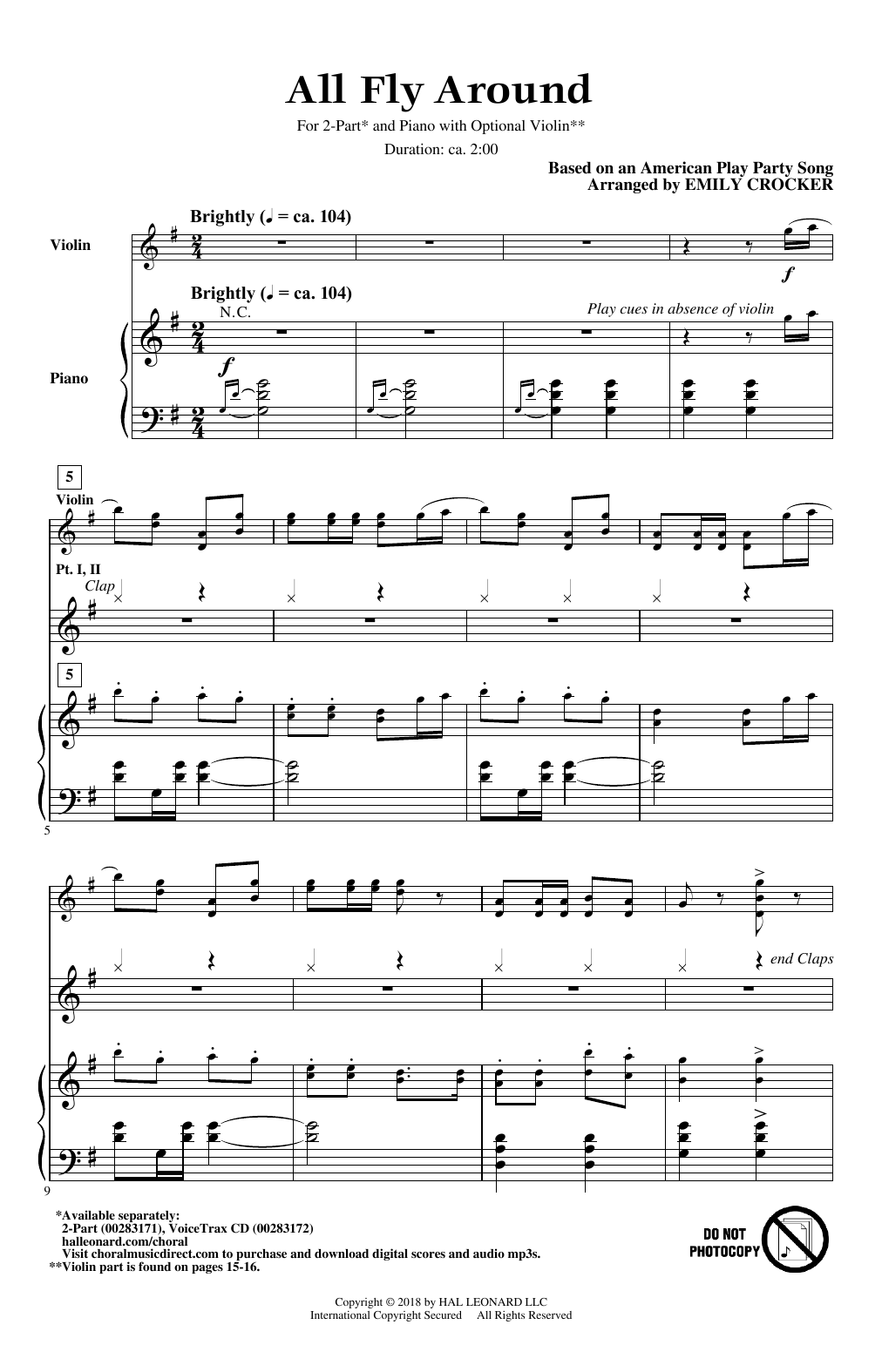 All Fly Around Sheet Music