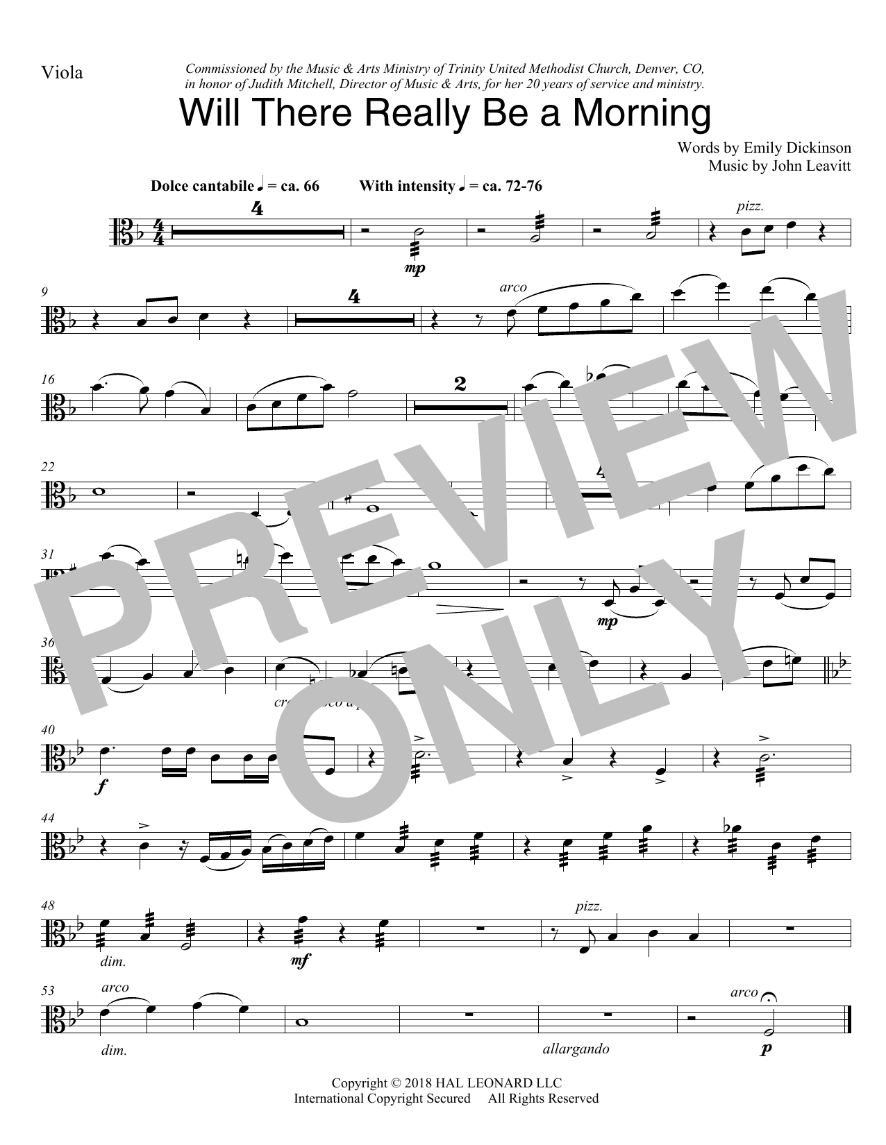 Will There Really Be A Morning - Viola (Choir Instrumental Pak)