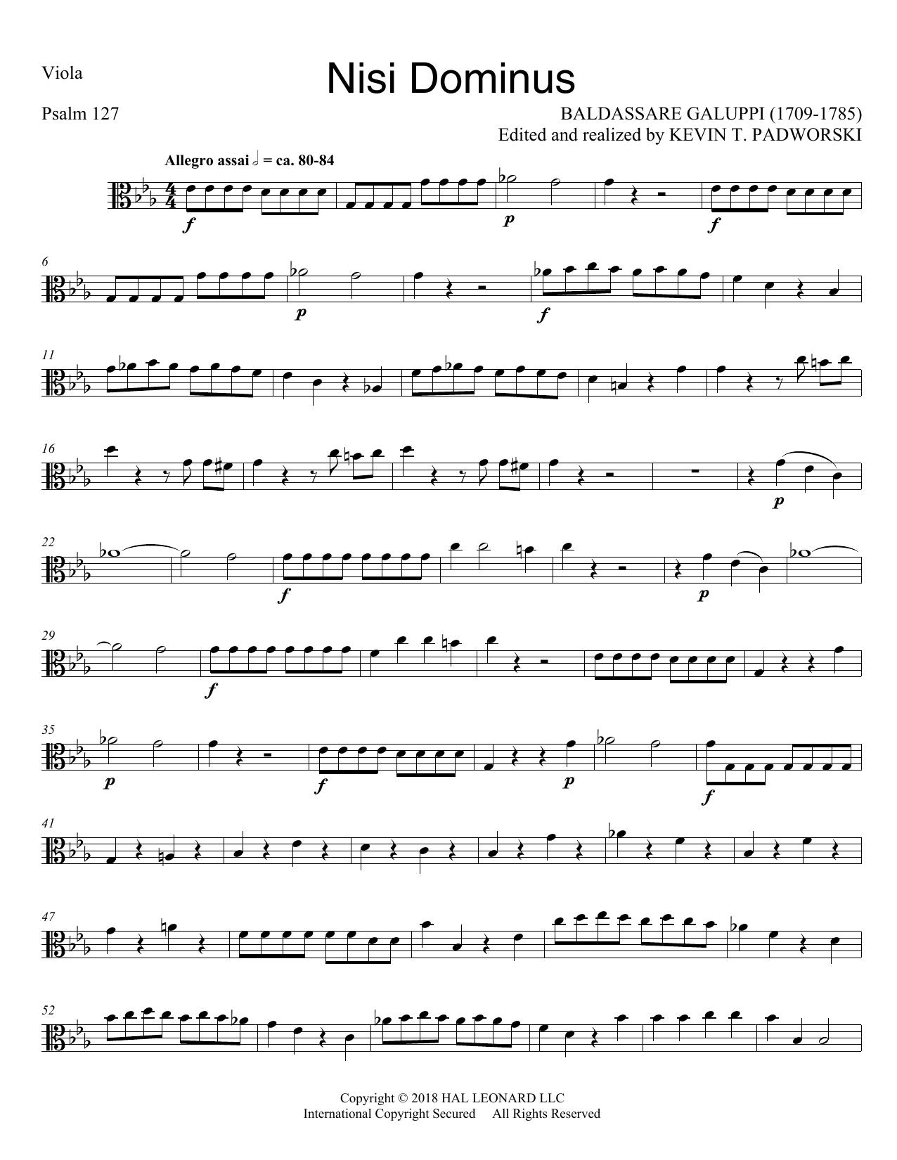 Nisi Dominus - Viola (Choir Instrumental Pak)
