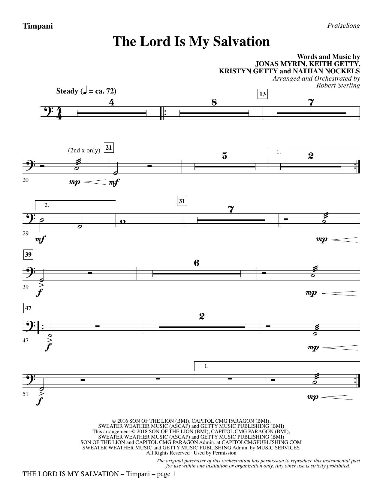 The Lord Is My Salvation - Timpani (Choir Instrumental Pak)