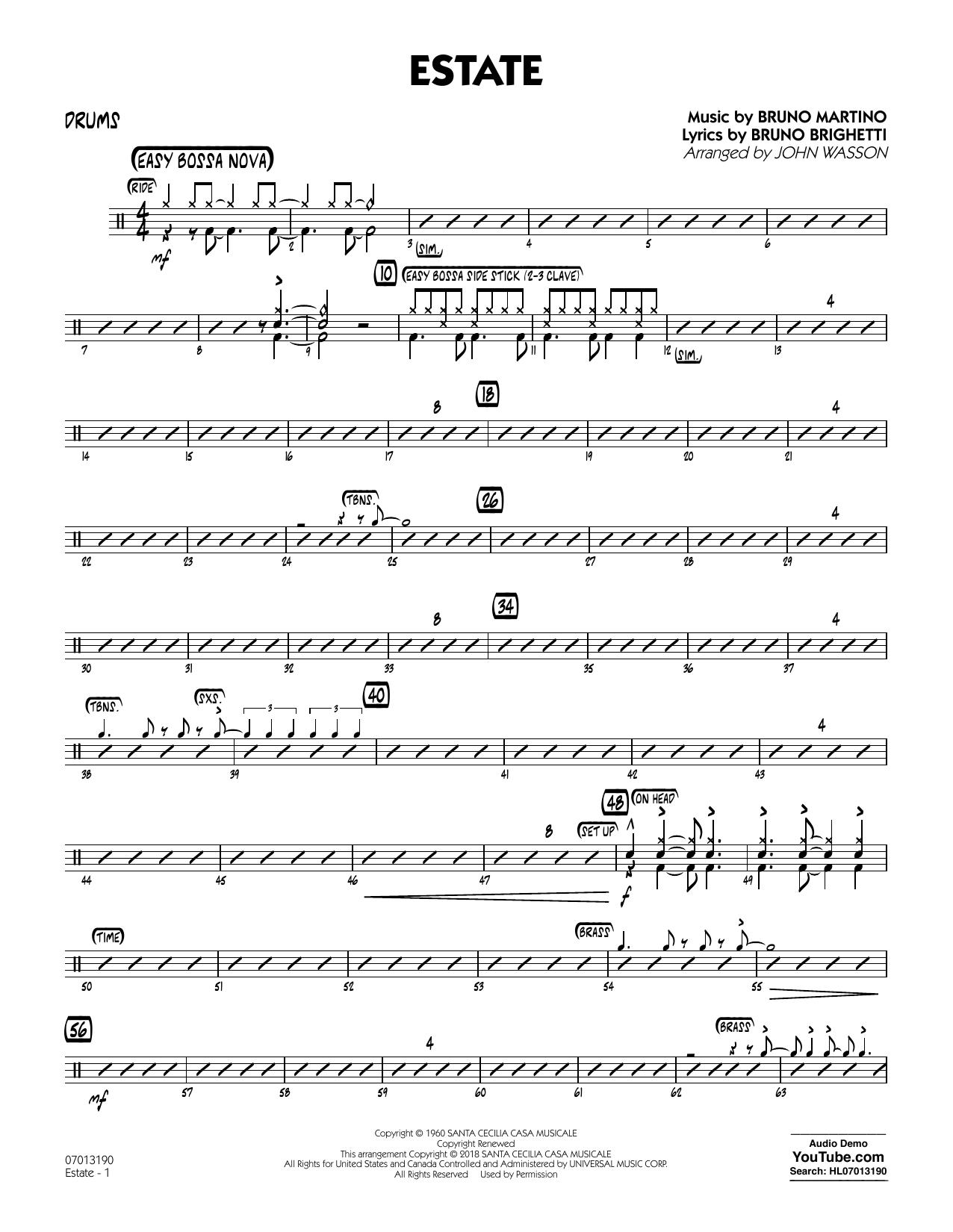 Estate - Drums (Jazz Ensemble)