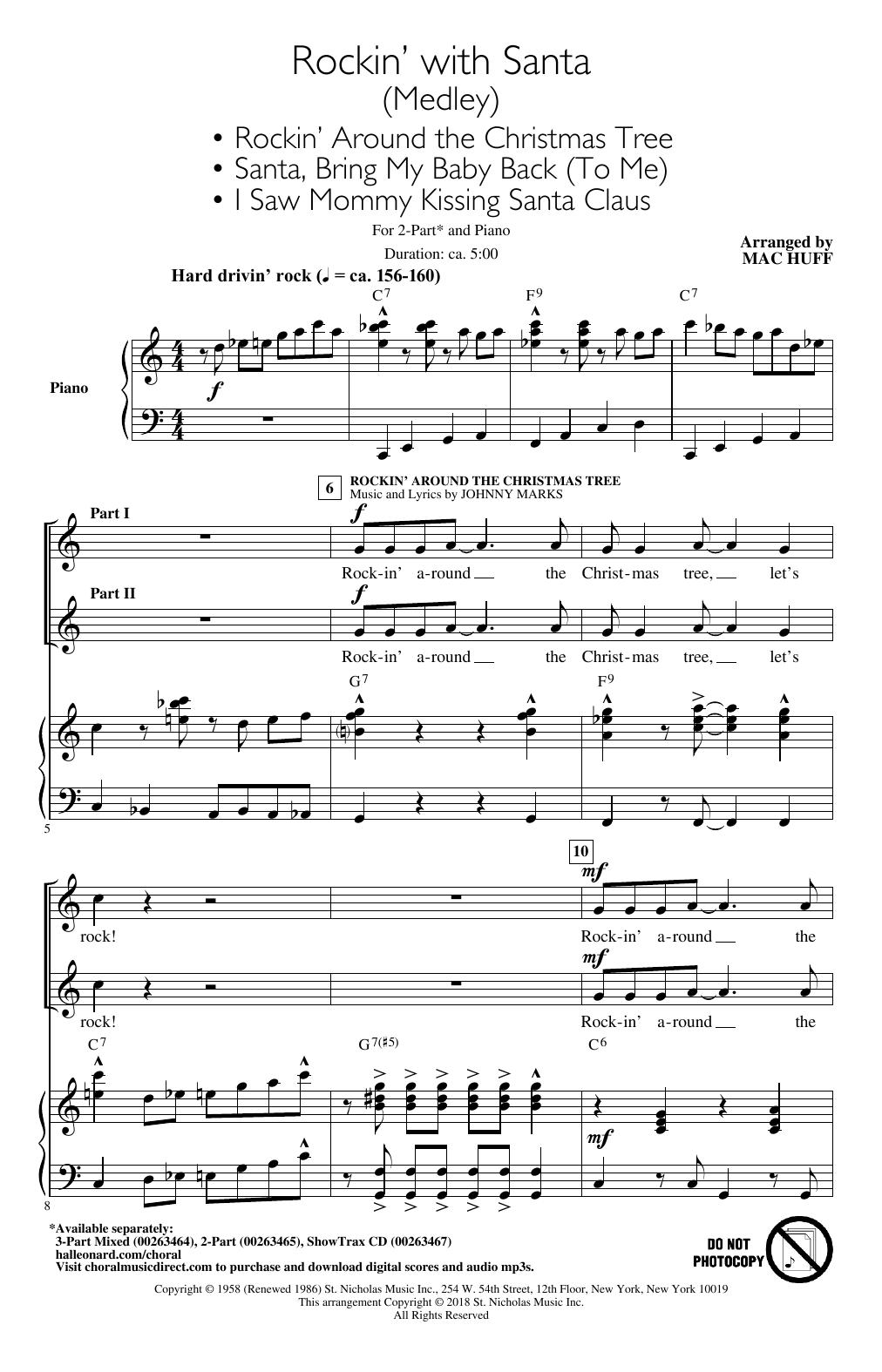 Rockin' With Santa (Medley) (arr. Mac Huff) (2-Part Choir)