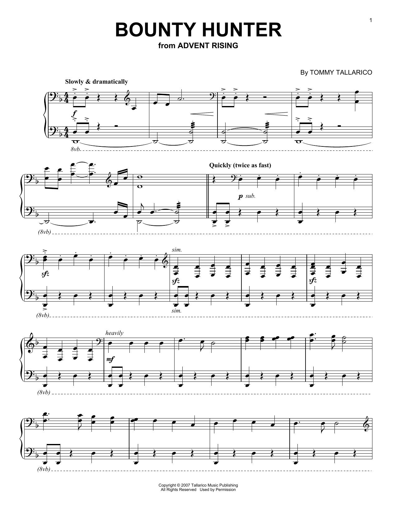 Bounty Hunter (Piano Solo)