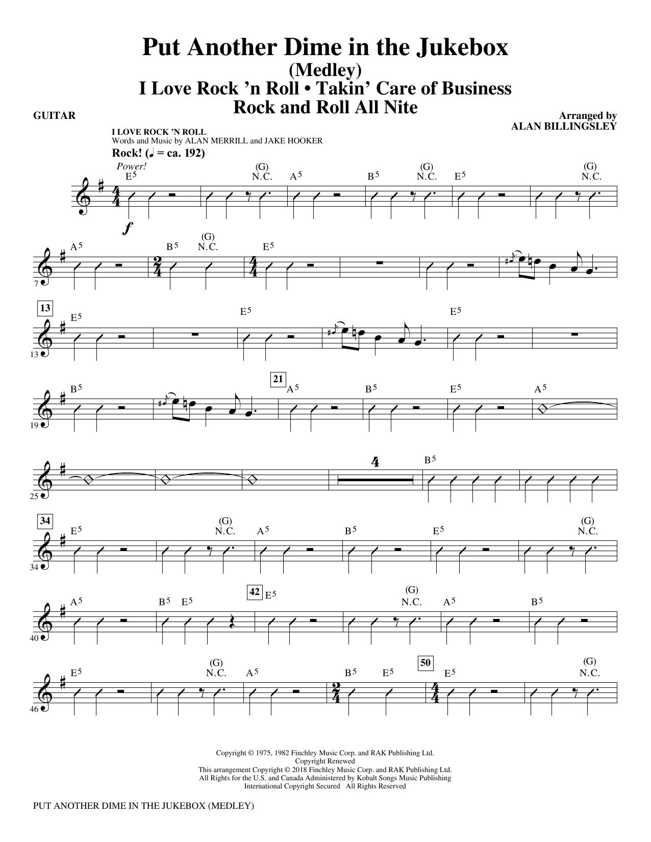 Put Another Dime In The Jukebox (Medley) - Guitar (Choir Instrumental Pak)
