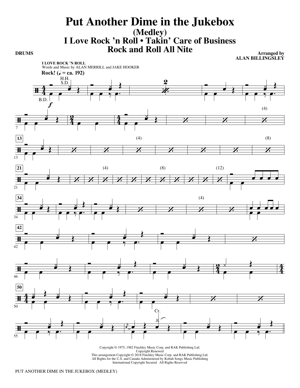 Put Another Dime In The Jukebox (Medley) - Drums (Choir Instrumental Pak)