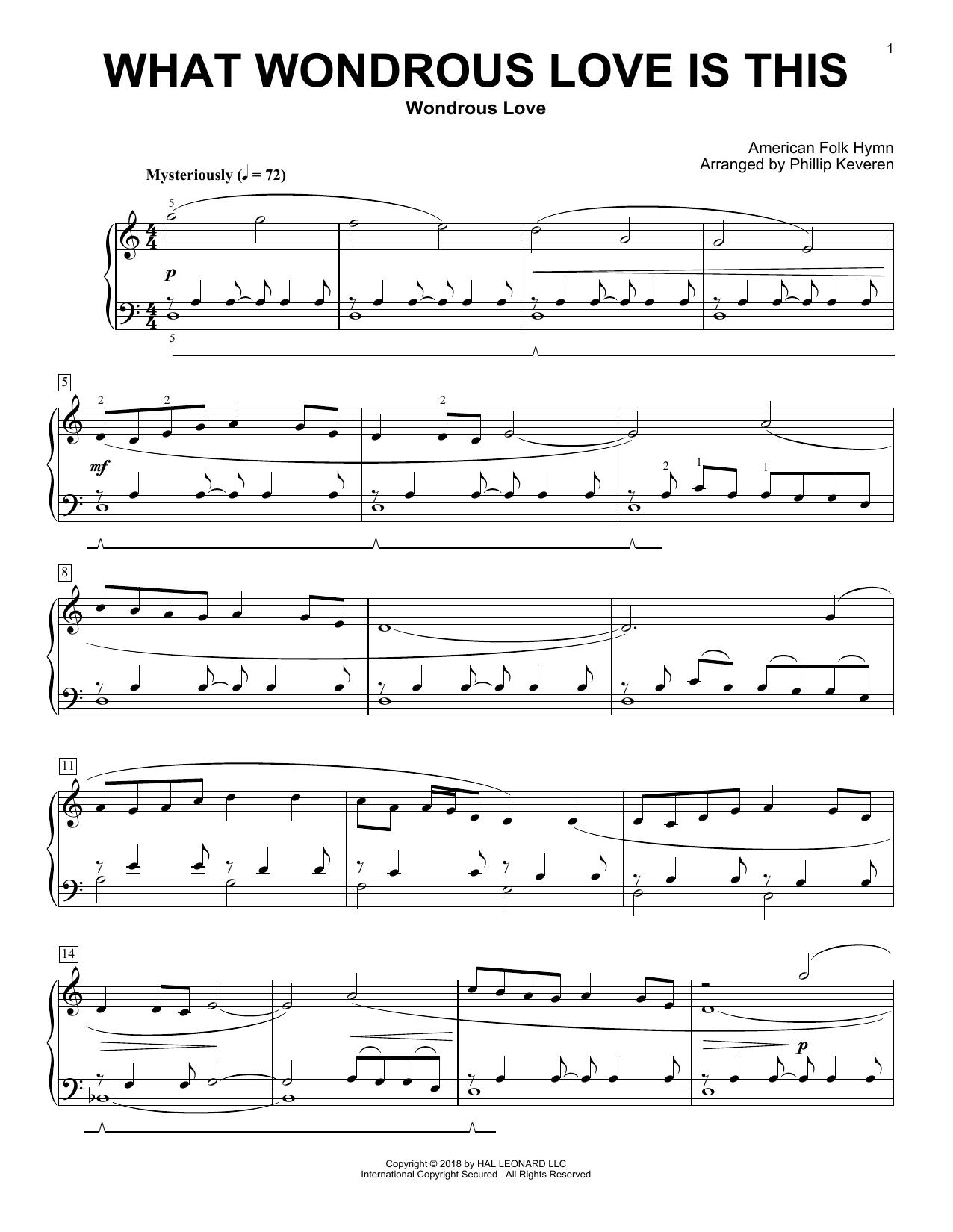 What Wondrous Love Is This (arr. Phillip Keveren) (Piano Solo)
