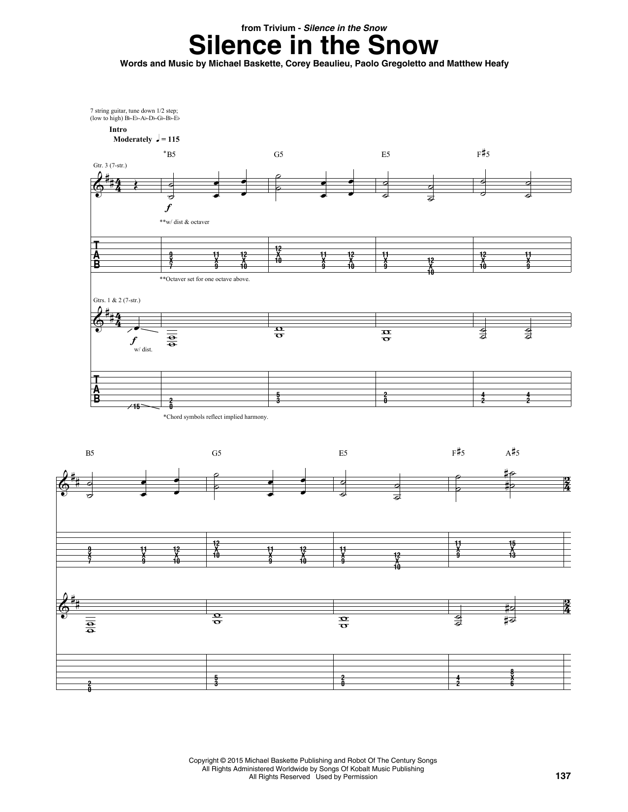 Silence In The Snow Sheet Music