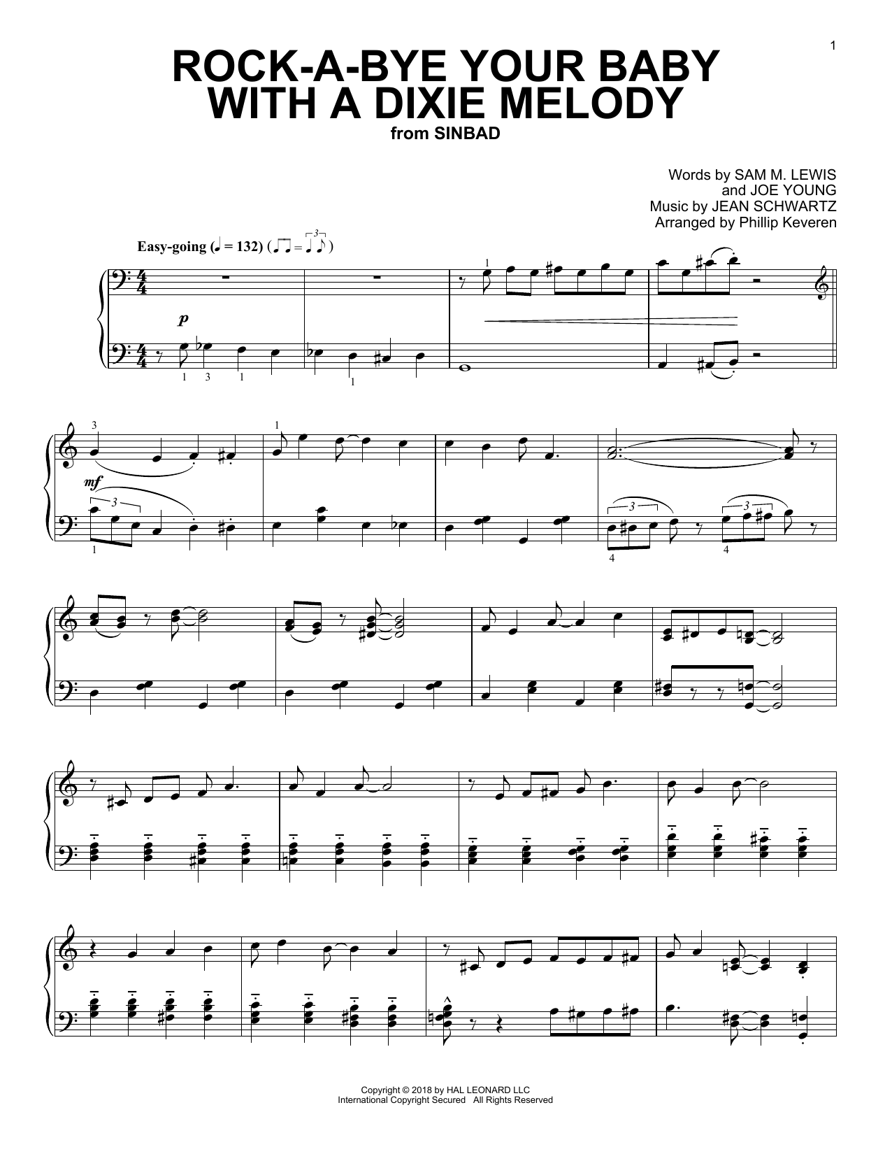 Rock-A-Bye Your Baby With A Dixie Melody [Jazz version] (arr. Phillip Keveren) (Piano Solo)