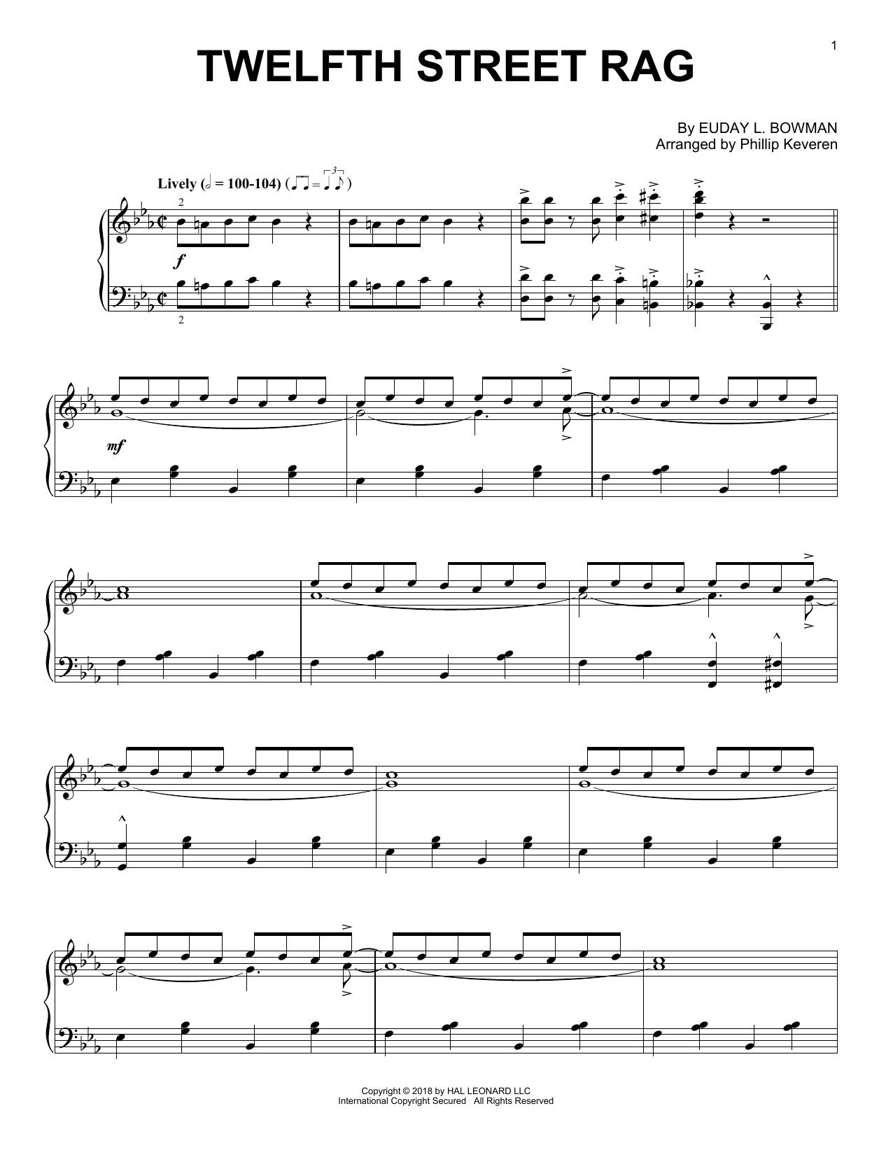 Twelfth Street Rag (arr. Phillip Keveren) (Piano Solo)