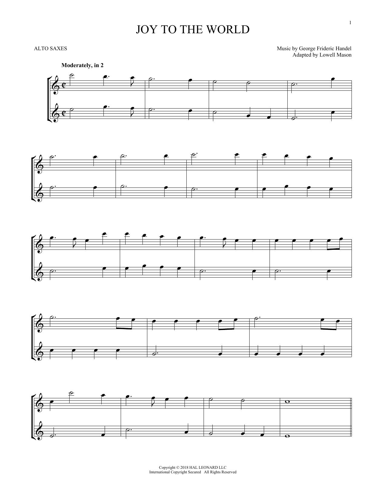 Joy To The World (Alto Sax Duet)
