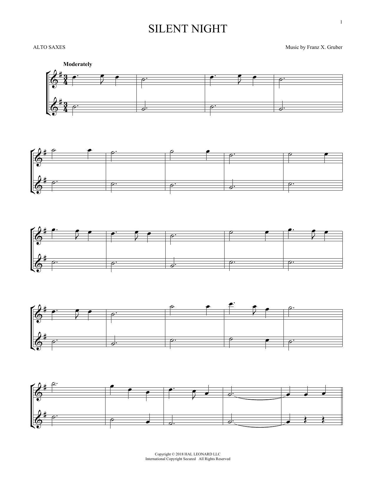 Silent Night (Alto Sax Duet)