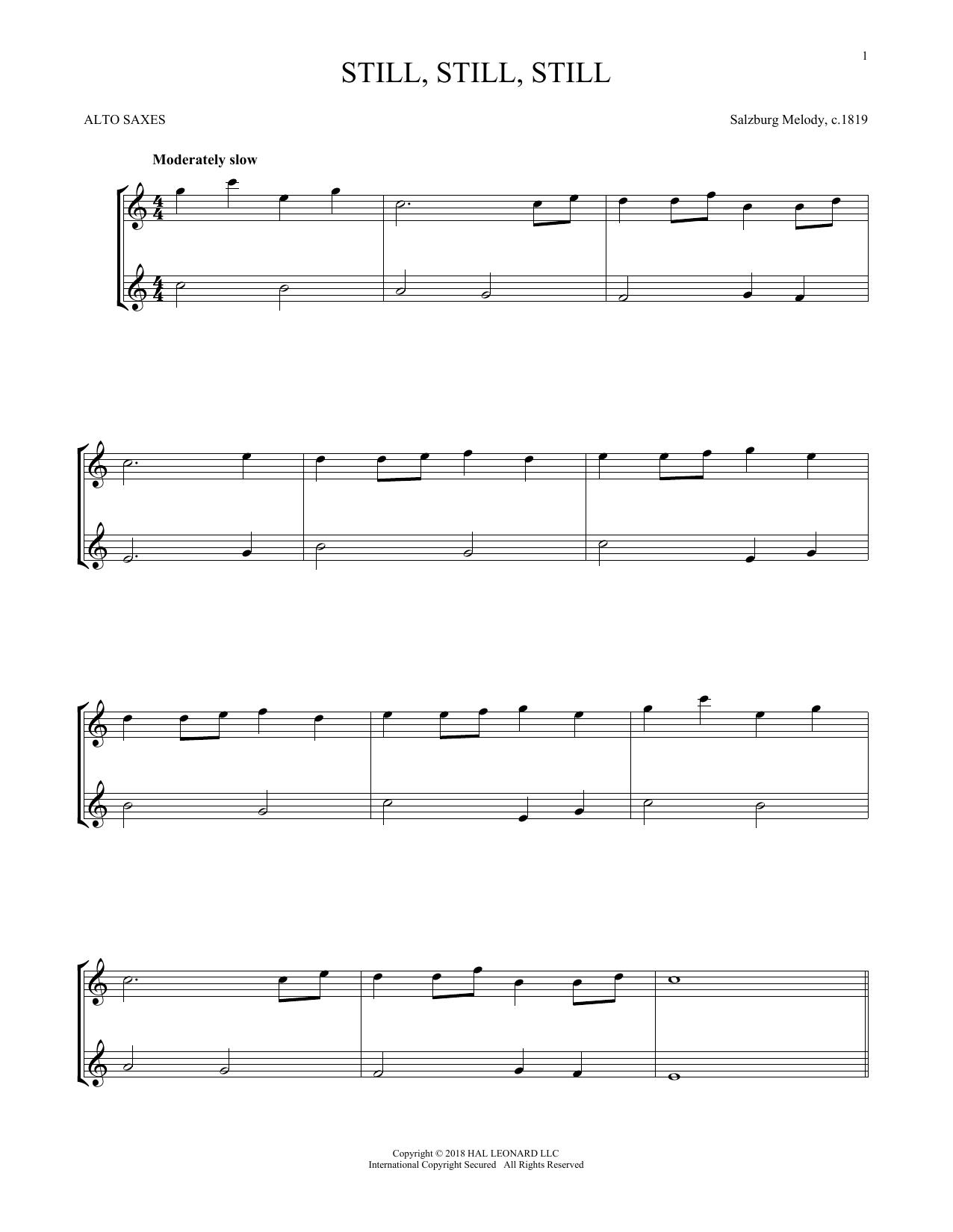 Still, Still, Still (Alto Sax Duet)