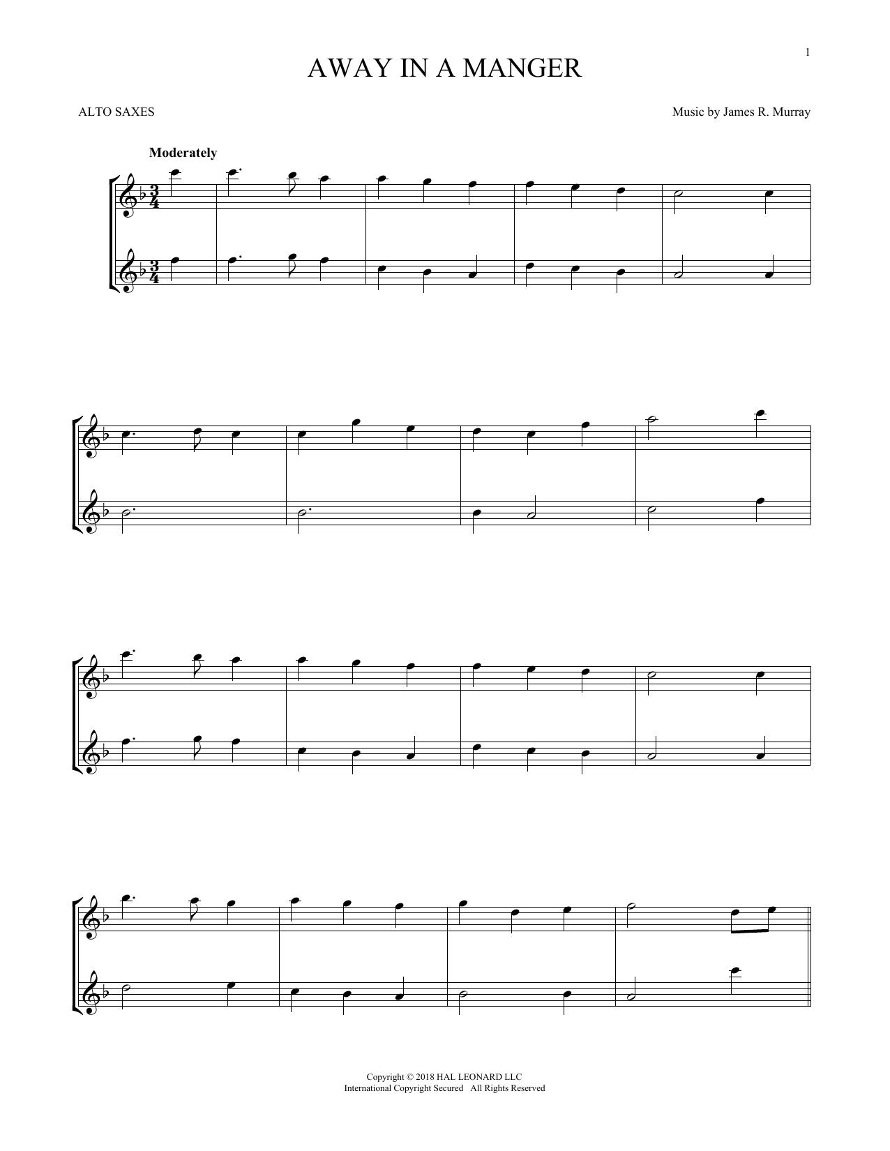 Away In A Manger (Alto Sax Duet)