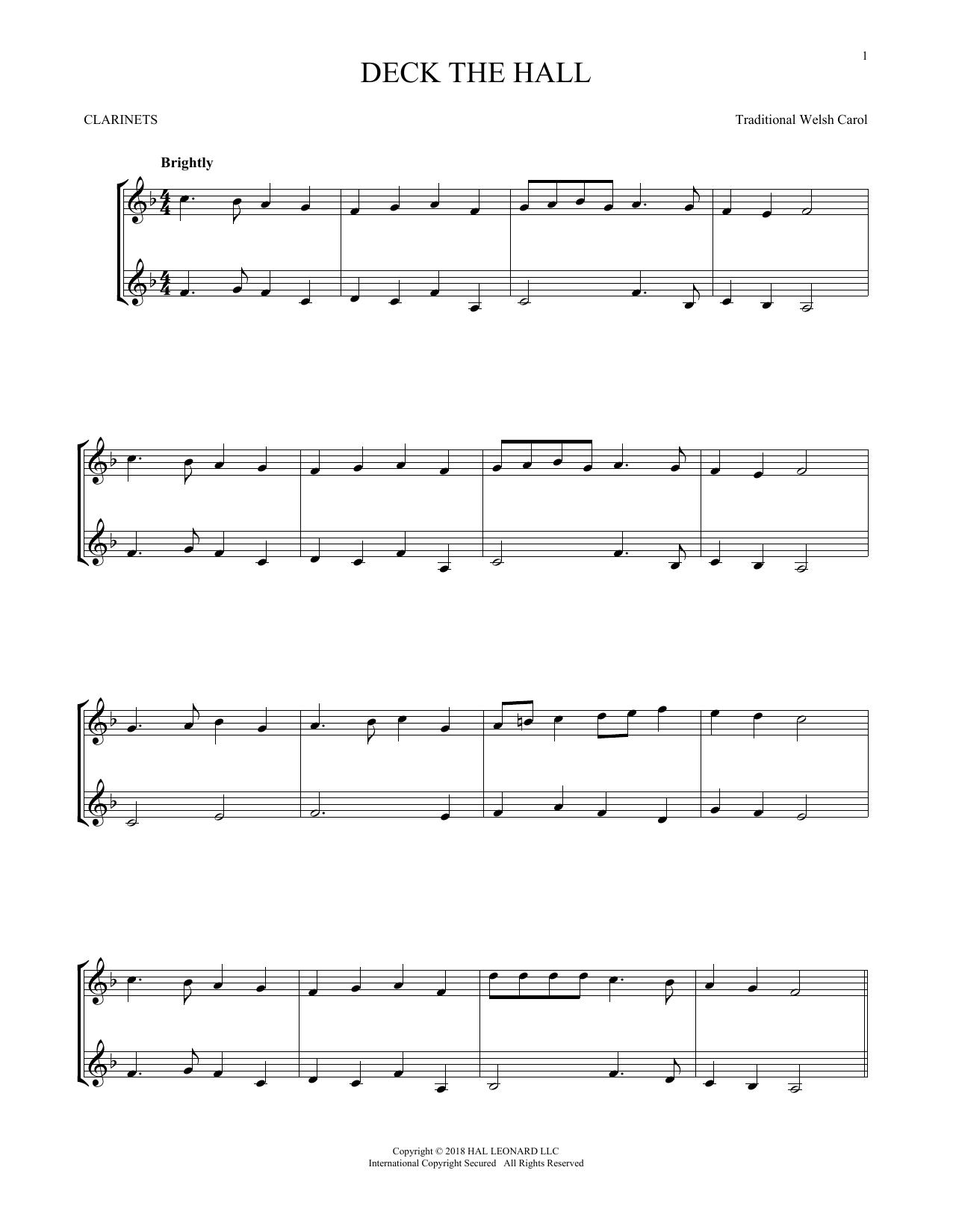 Deck The Hall (Clarinet Duet)
