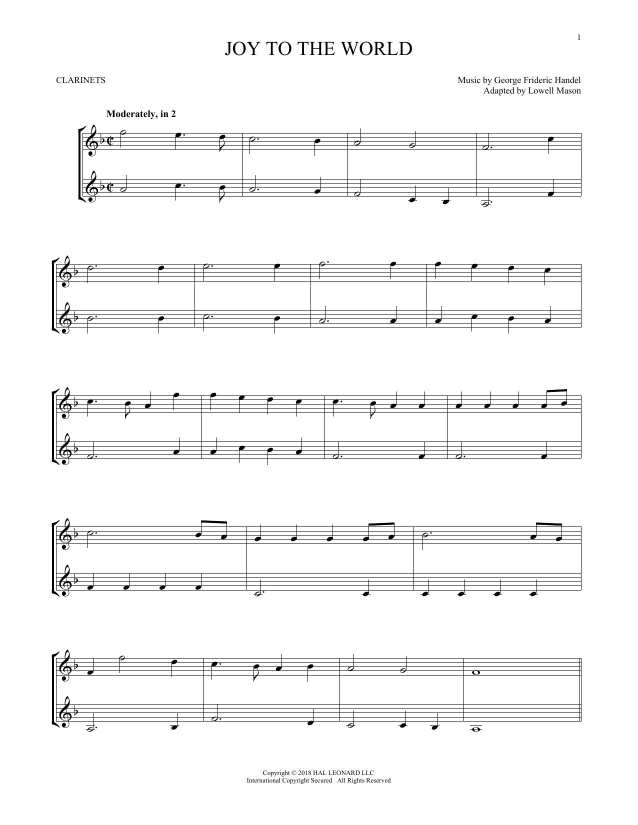 Joy To The World (Clarinet Duet)