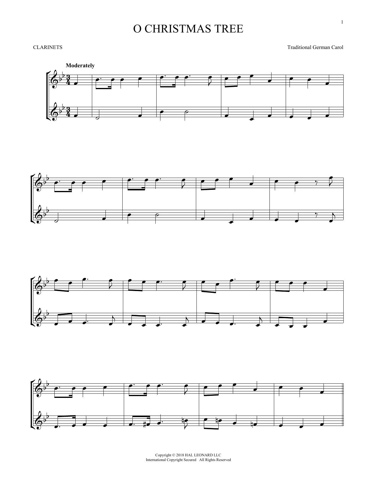 O Christmas Tree (Clarinet Duet)