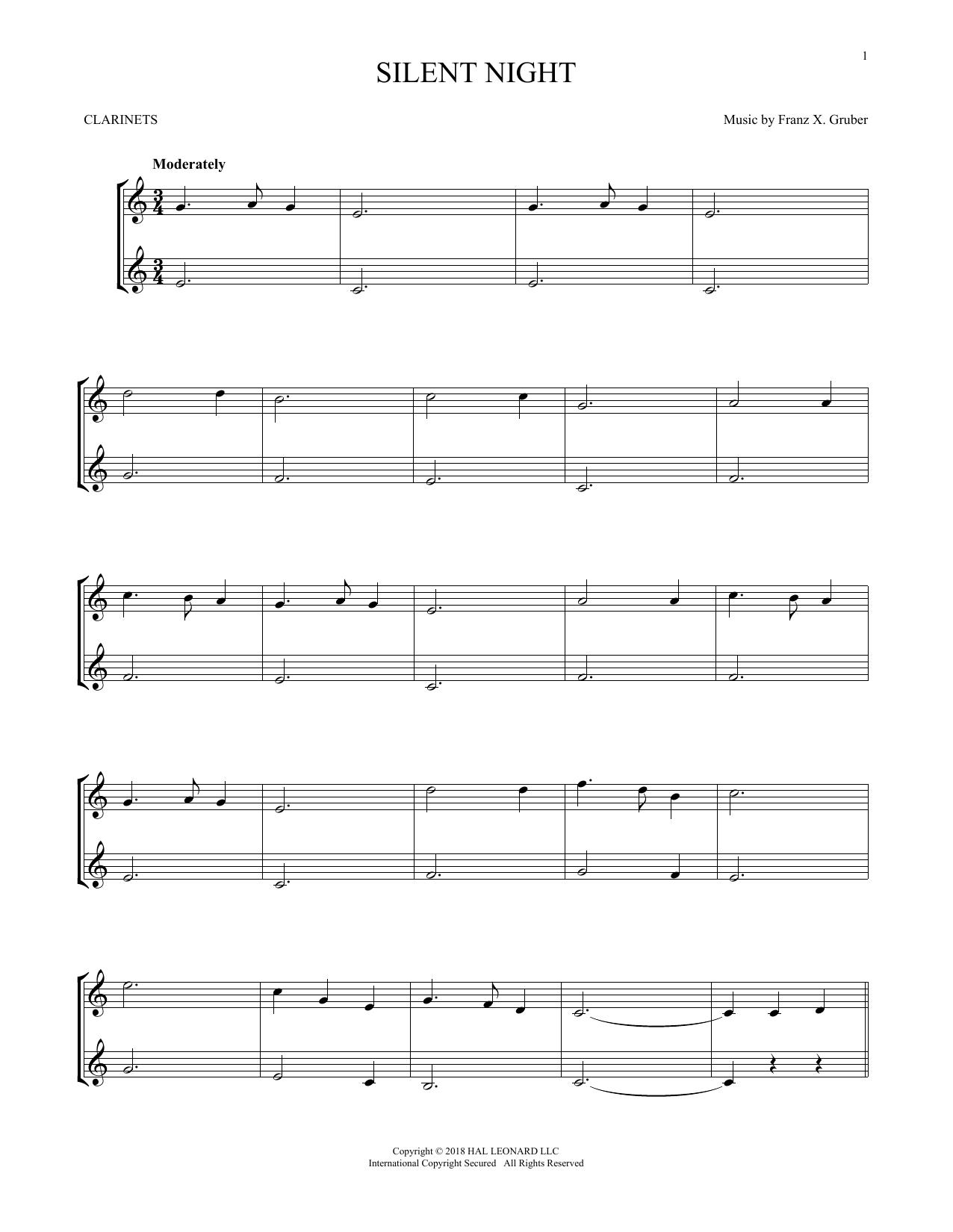 Silent Night (Clarinet Duet)