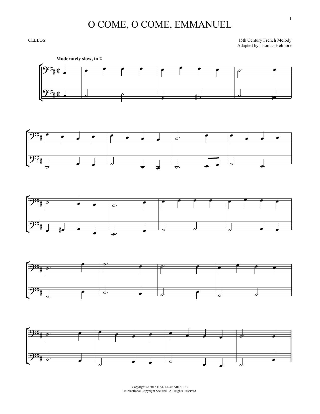 O Come, O Come, Emmanuel (Cello Duet)