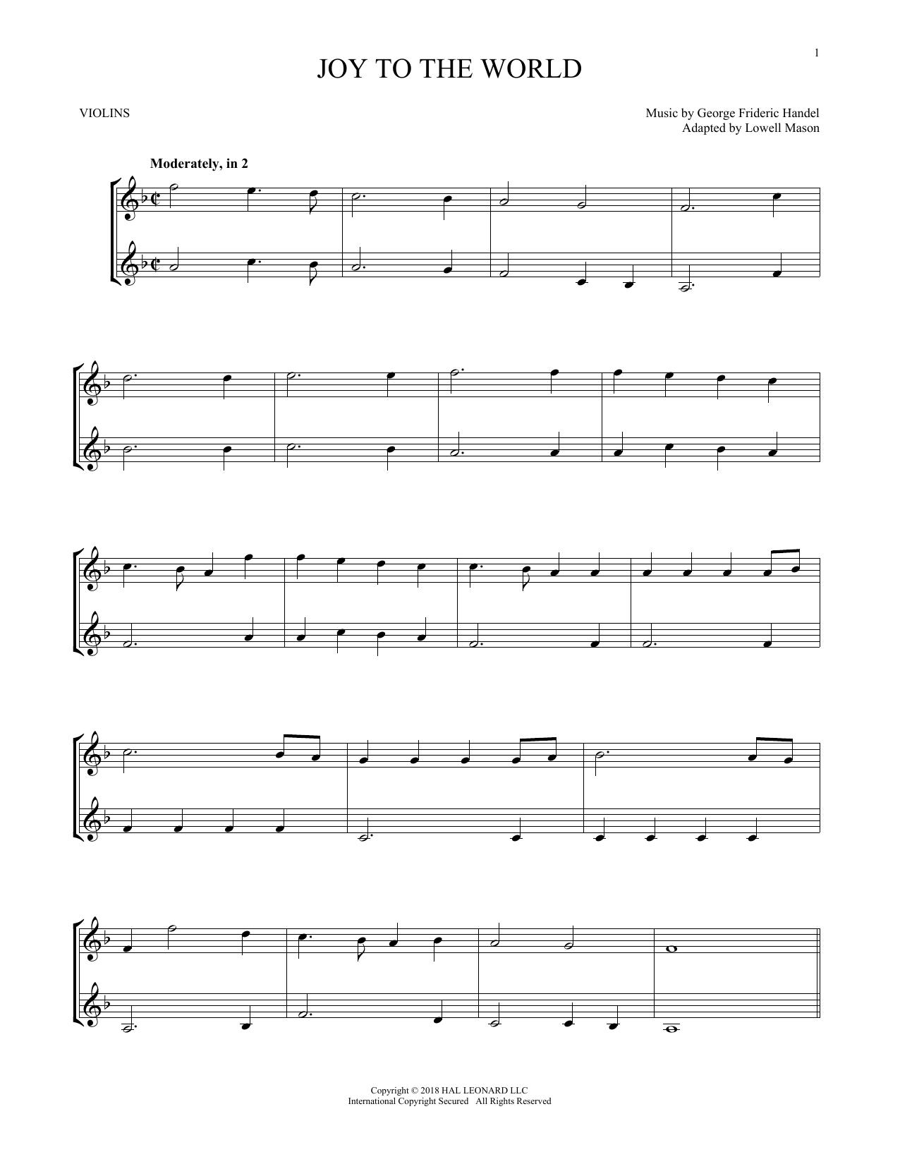 Joy To The World (Violin Duet)
