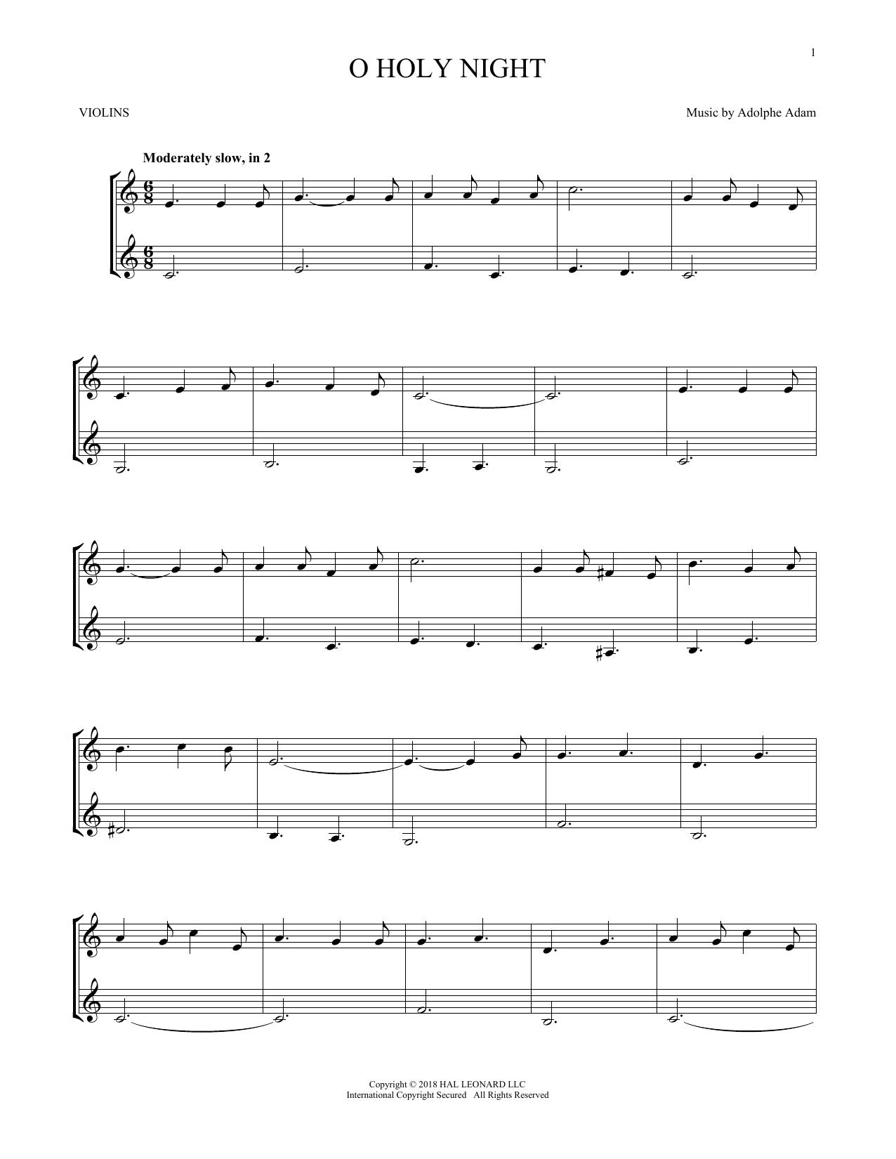 O Holy Night (Violin Duet)