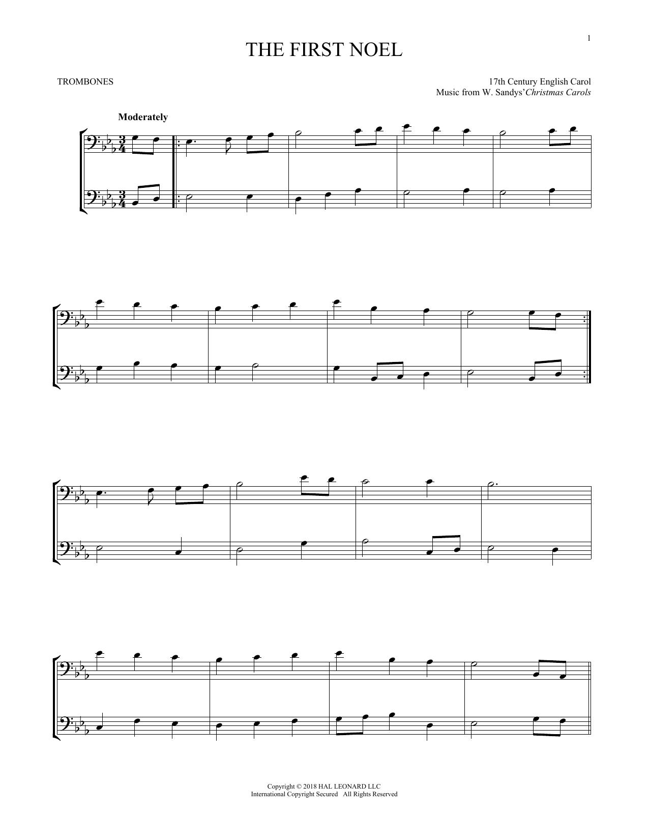 The First Noel (Trombone Transcription)