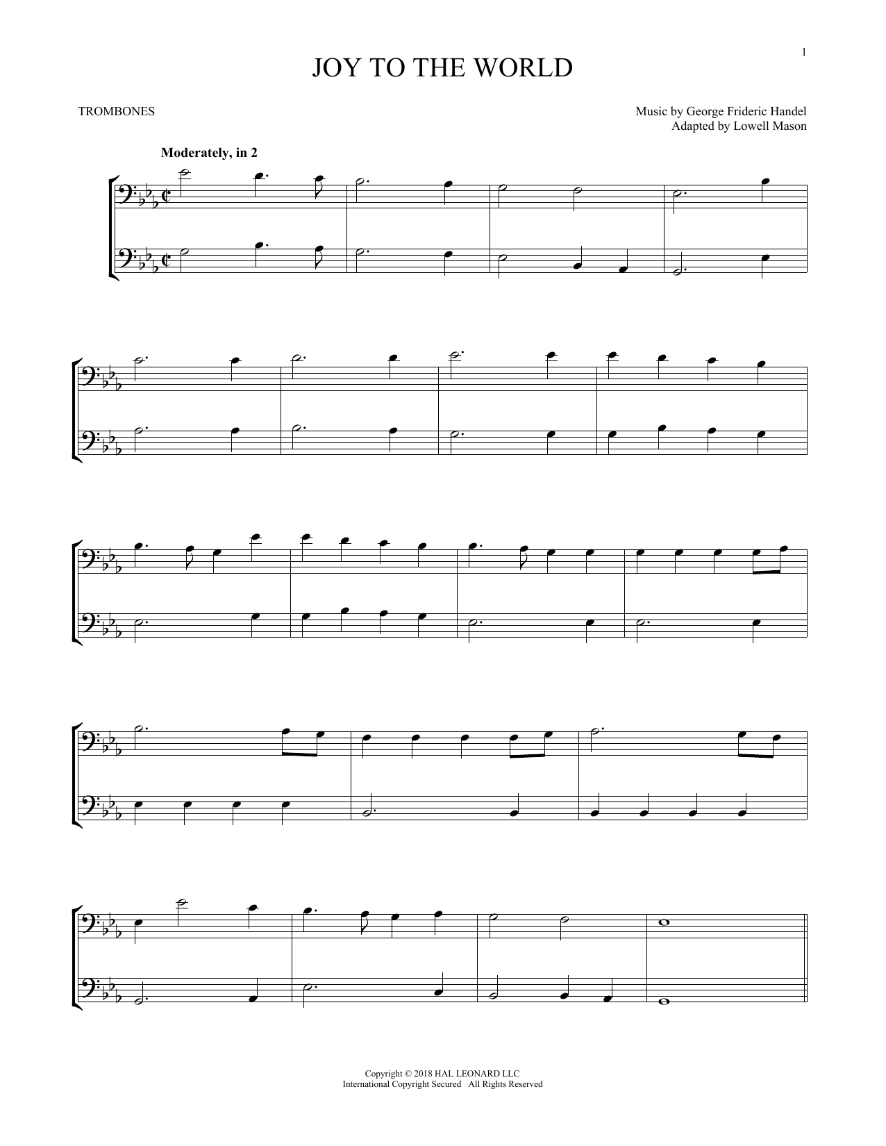 Joy To The World (Trombone Transcription)