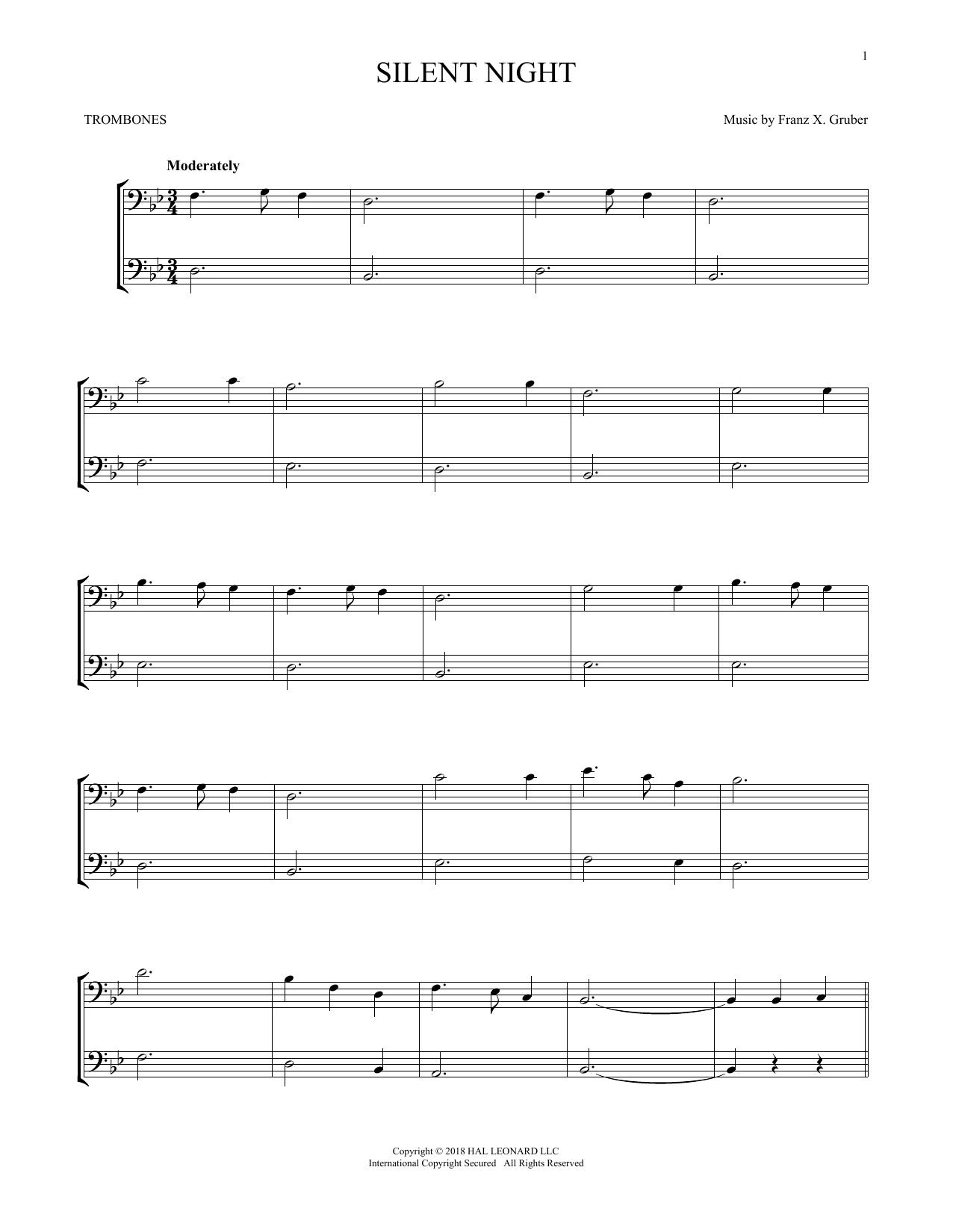 Silent Night (Trombone Transcription)