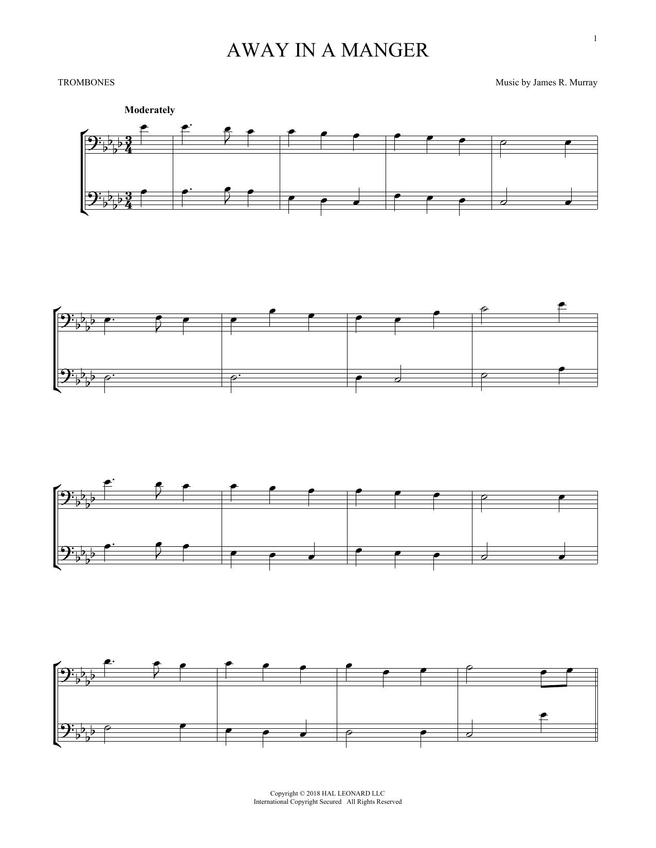 Away In A Manger (Trombone Transcription)