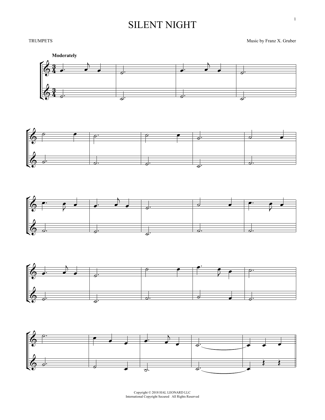 Silent Night (Trumpet Duet)