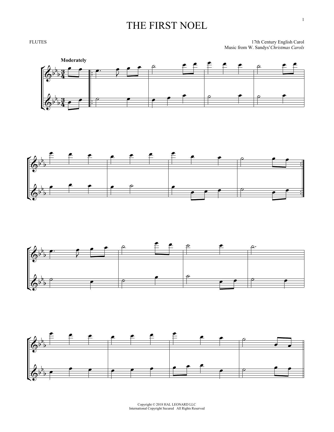 The First Noel (Flute Duet)