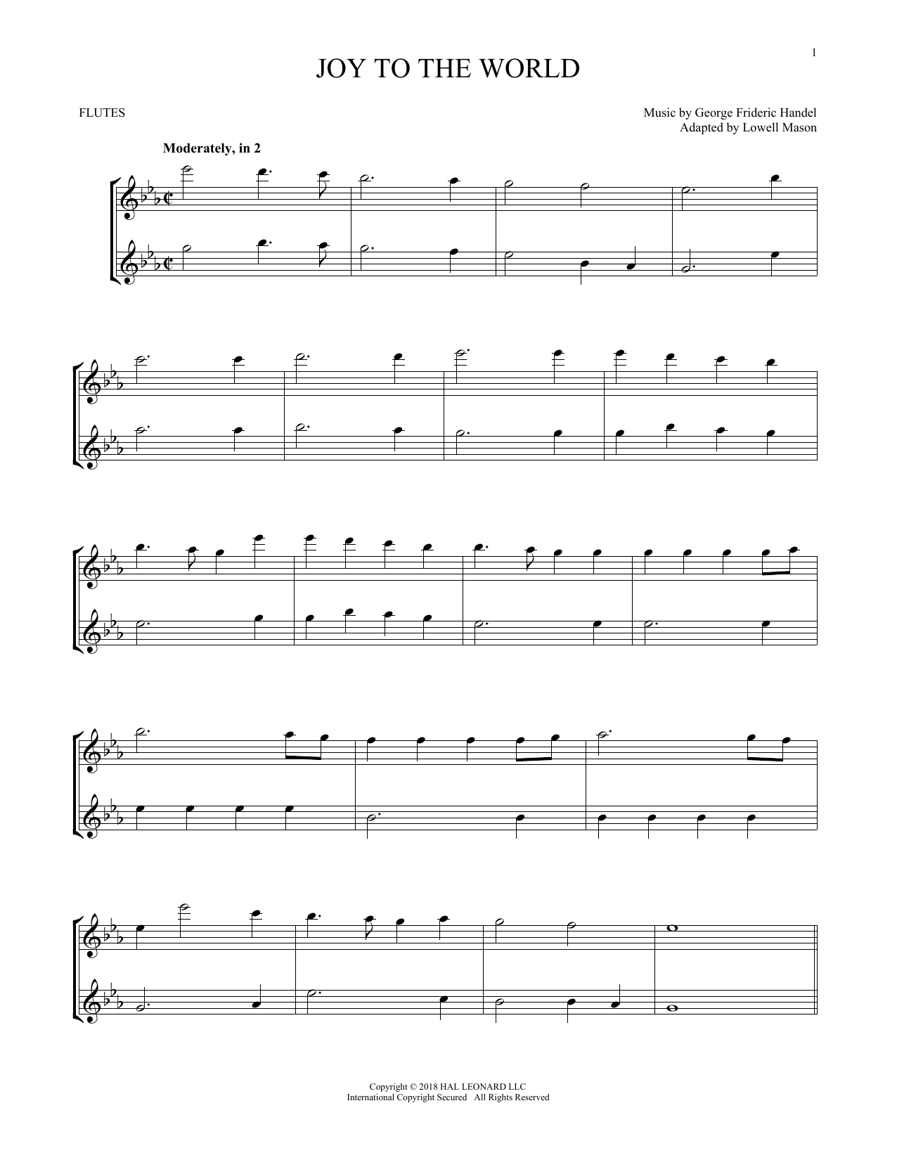 Joy To The World (Flute Duet)