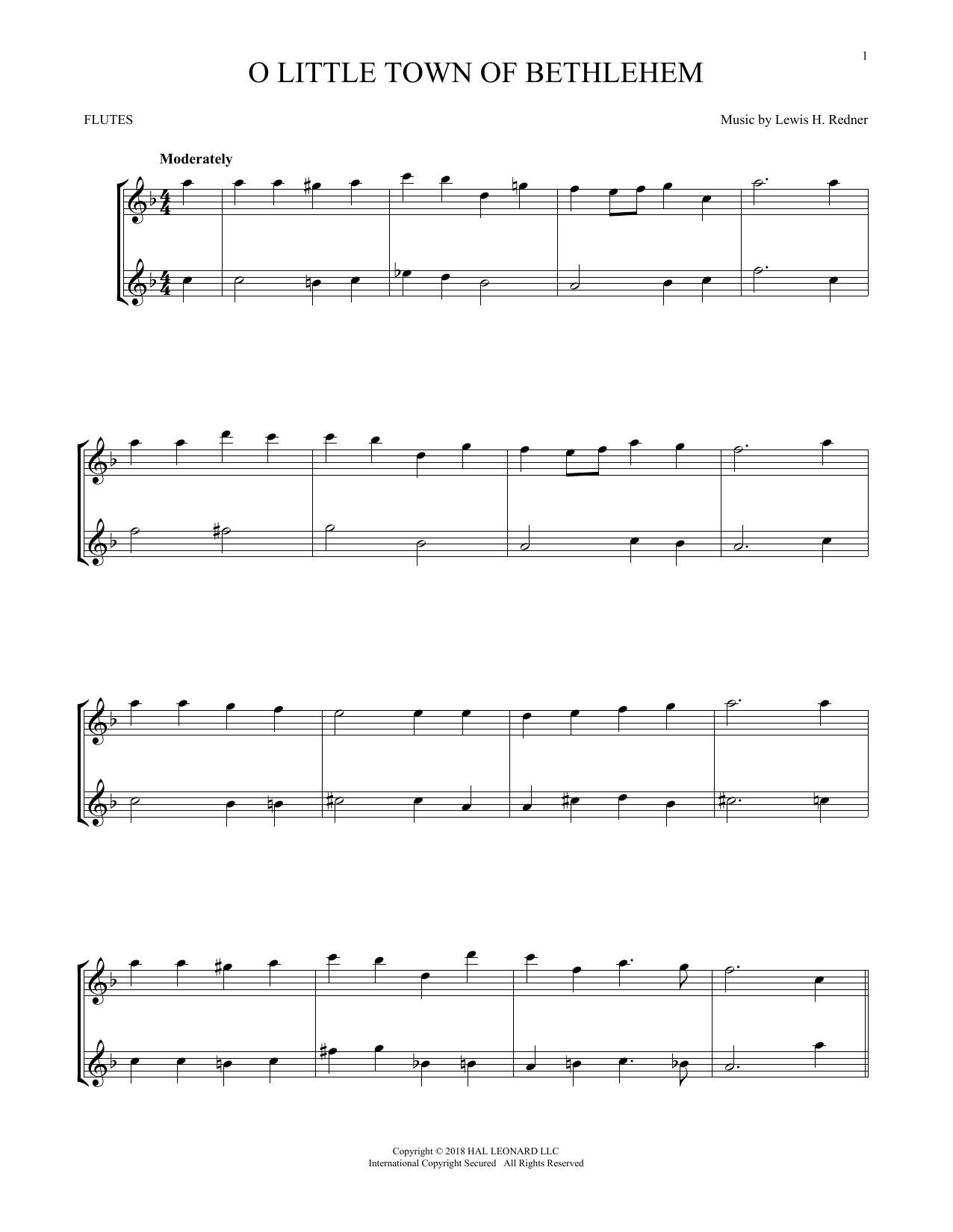 O Little Town Of Bethlehem (Flute Duet)