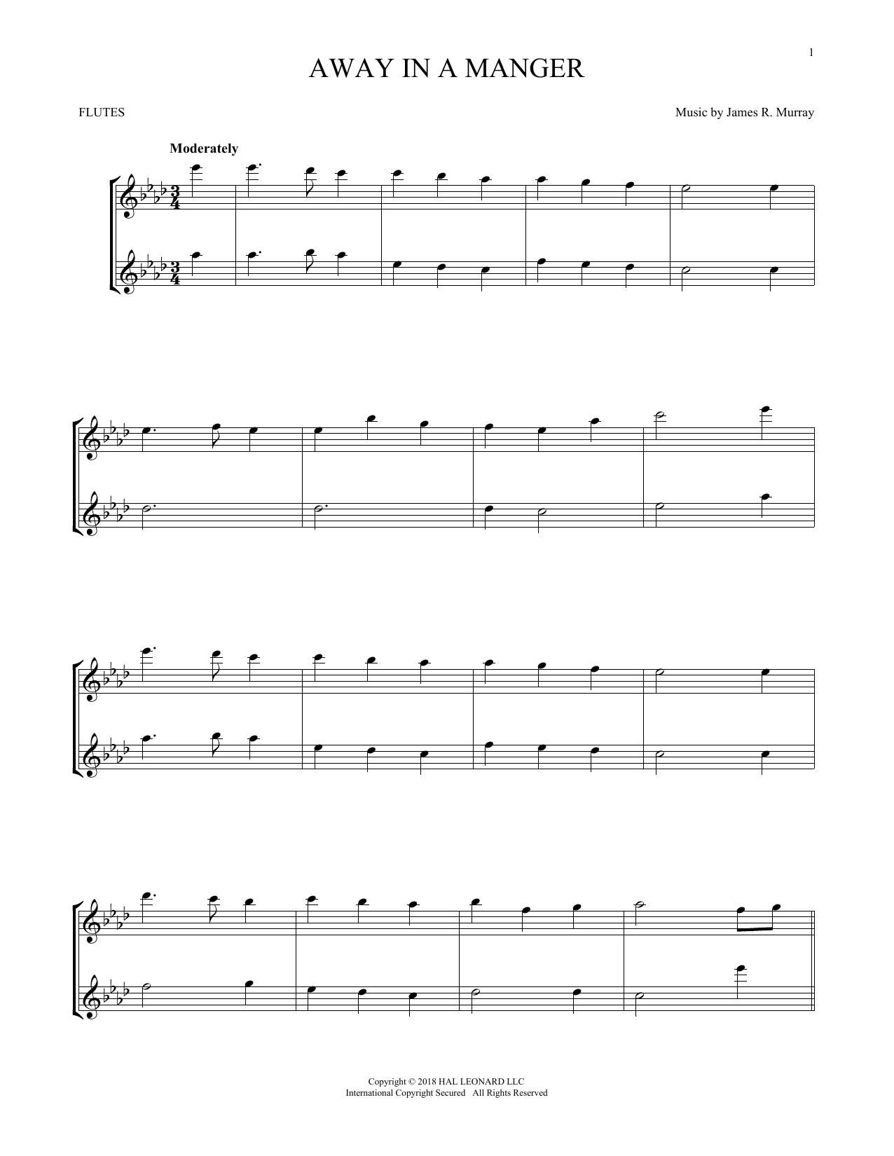 Away In A Manger (Flute Duet)