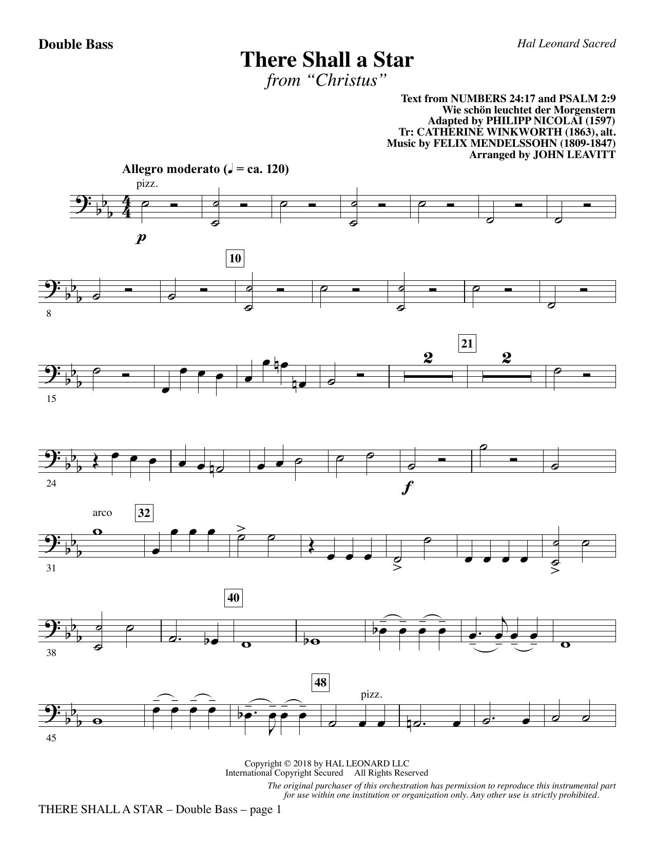 There Shall a Star (arr. John Leavitt) - Double Bass (Choir Instrumental Pak)