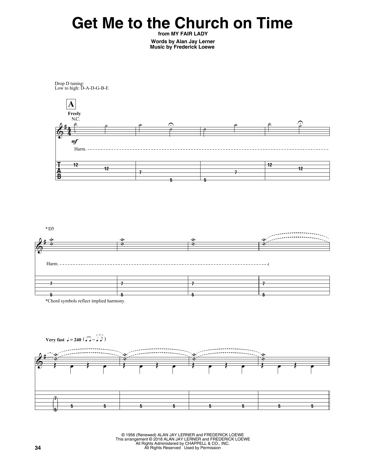 Get Me To The Church On Time (Guitar Tab)