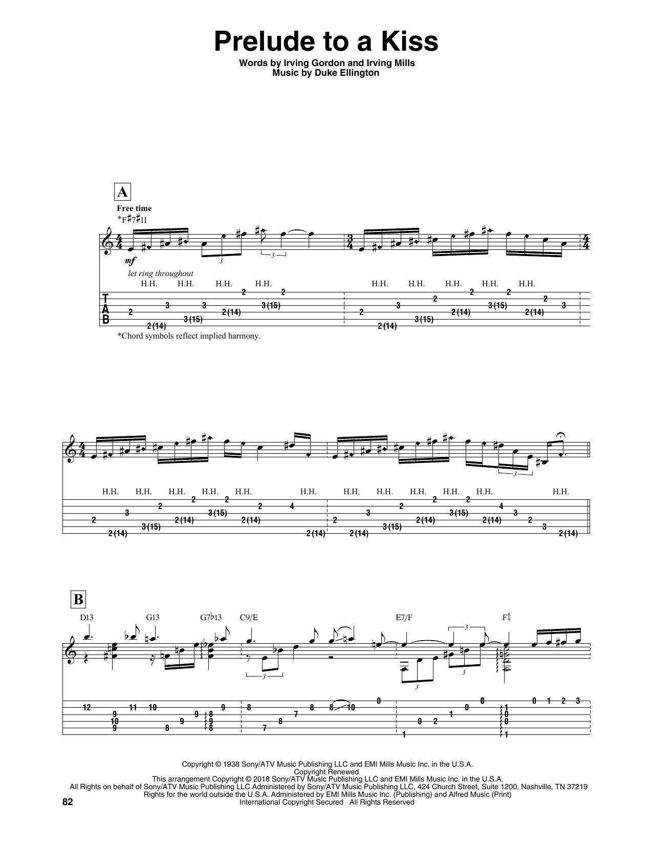 Prelude To A Kiss Sheet Music