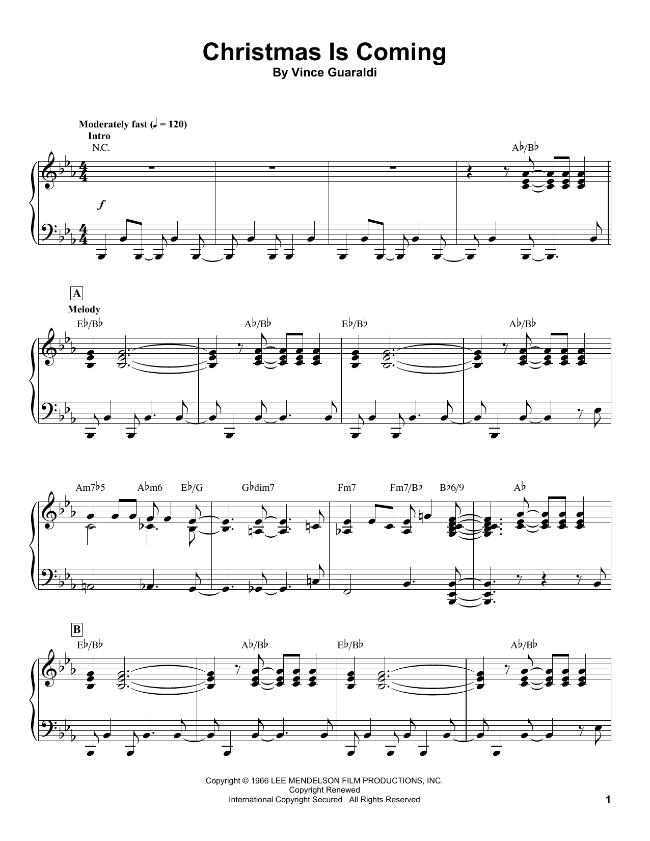 Christmas Is Coming (Piano Transcription)