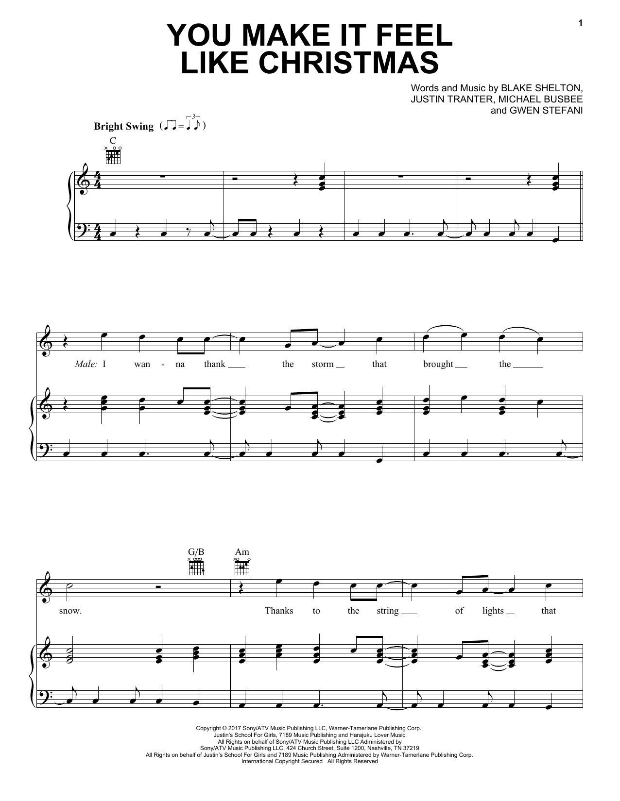 You Make It Feel Like Christmas - Print Sheet Music Now