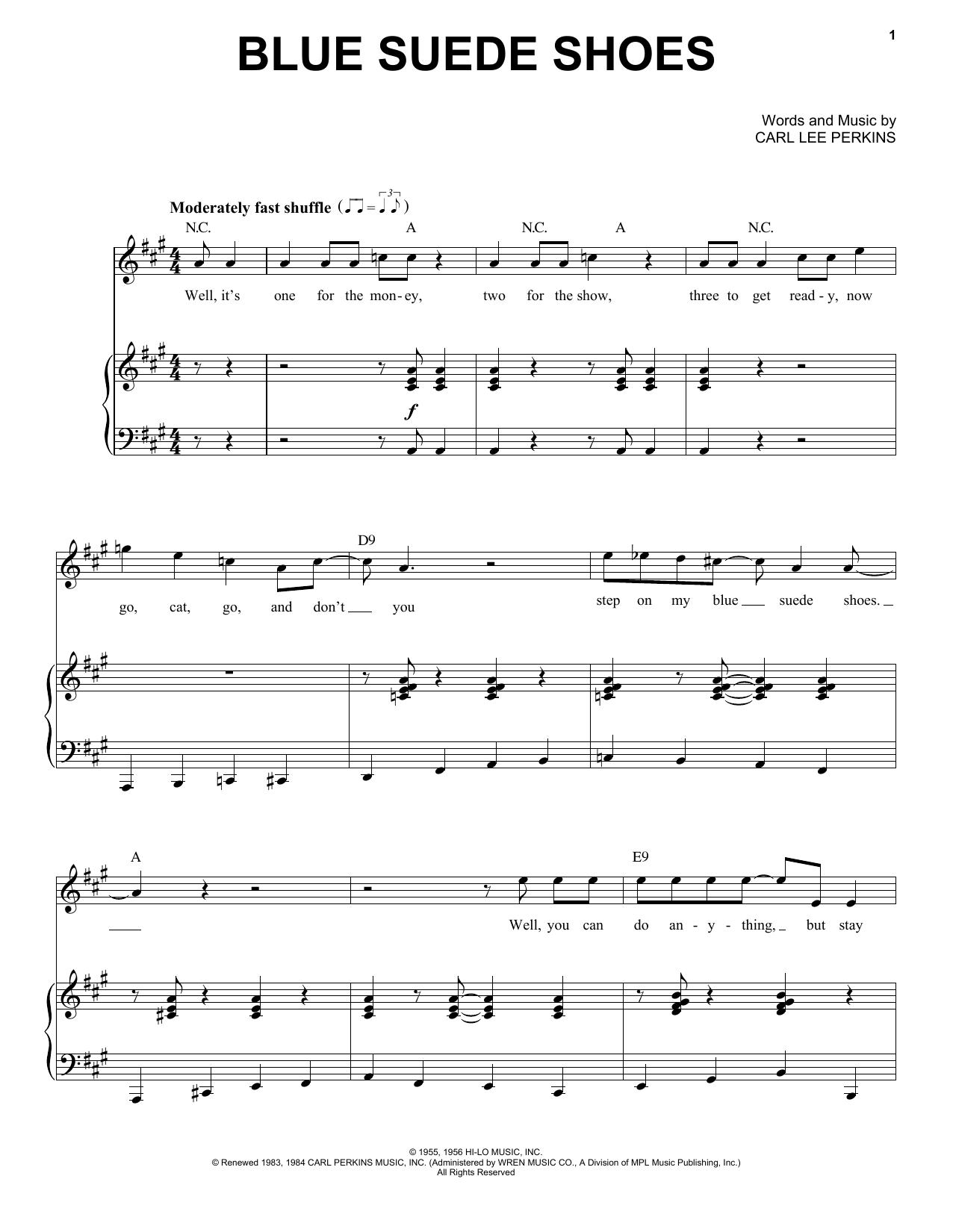 Blue Suede Shoes (Piano & Vocal)