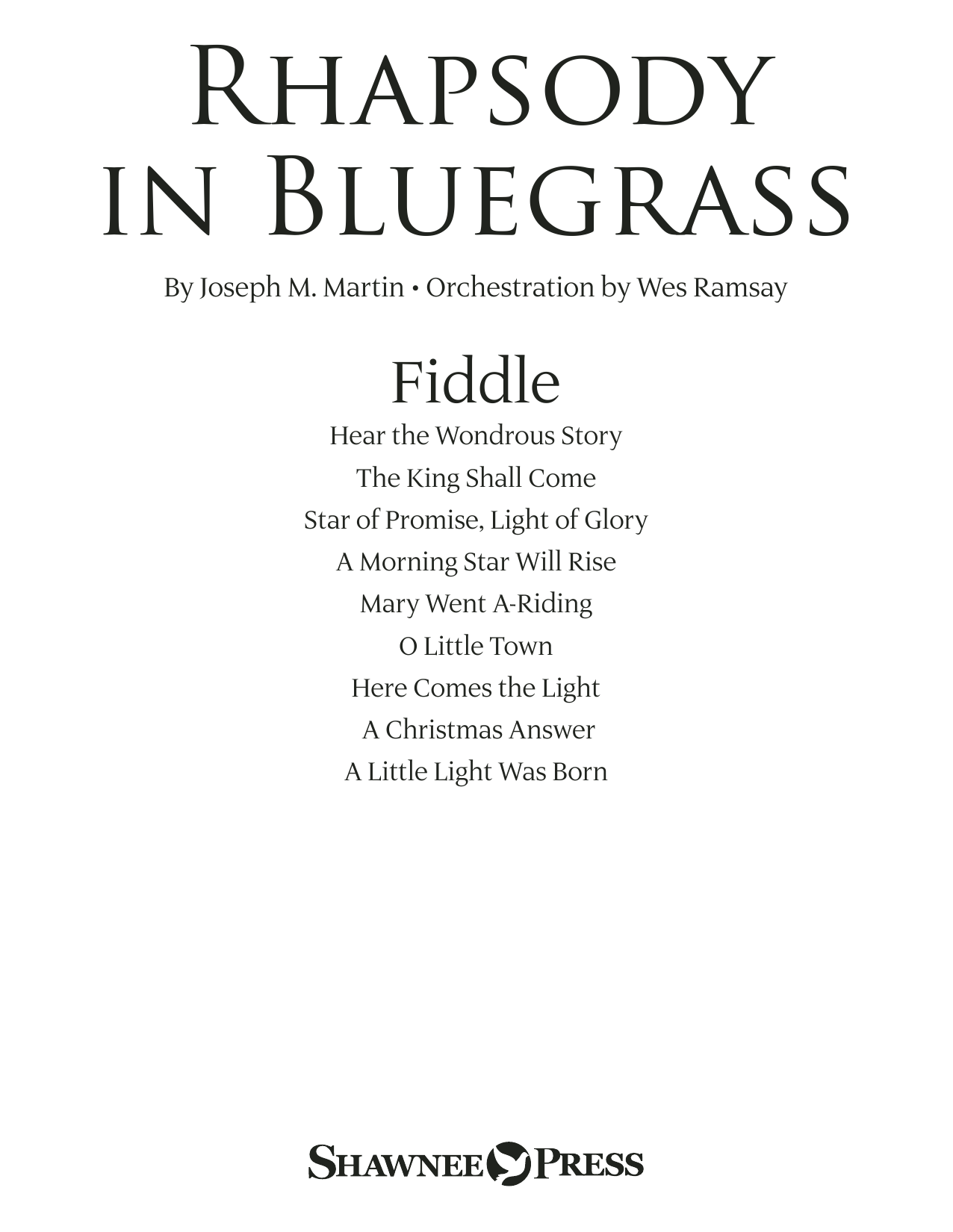 Rhapsody in Bluegrass - Fiddle (Choir Instrumental Pak)