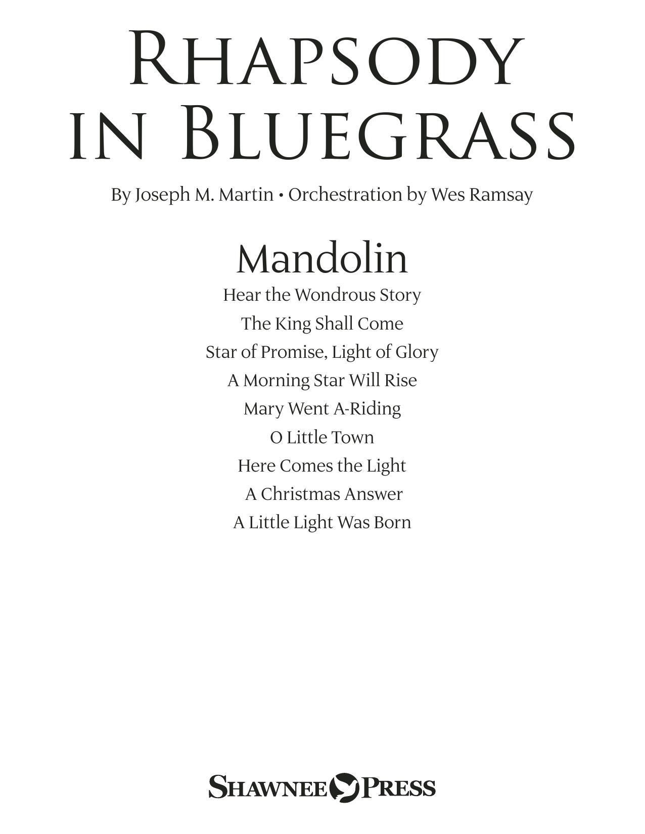 Rhapsody in Bluegrass - Mandolin (Choir Instrumental Pak)