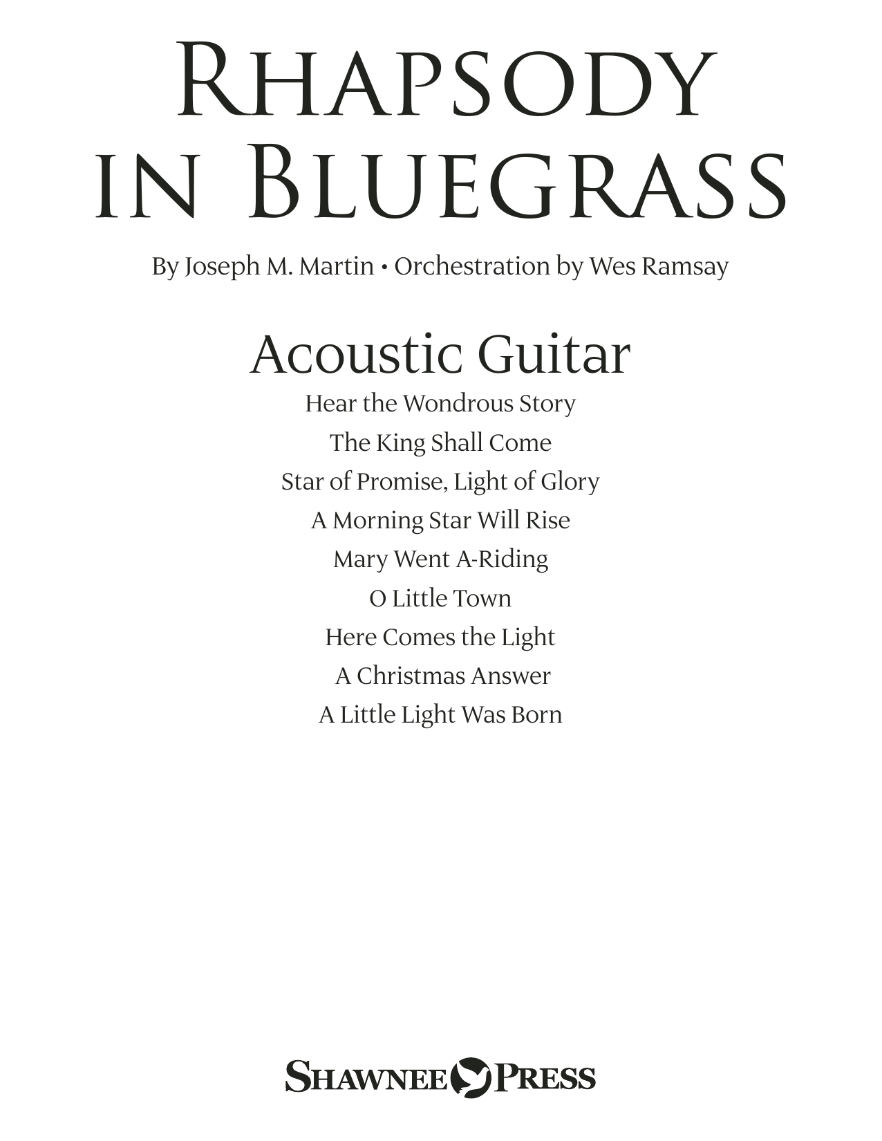 page one of Rhapsody in Bluegrass - Acoustic GuitarASALTTEXT