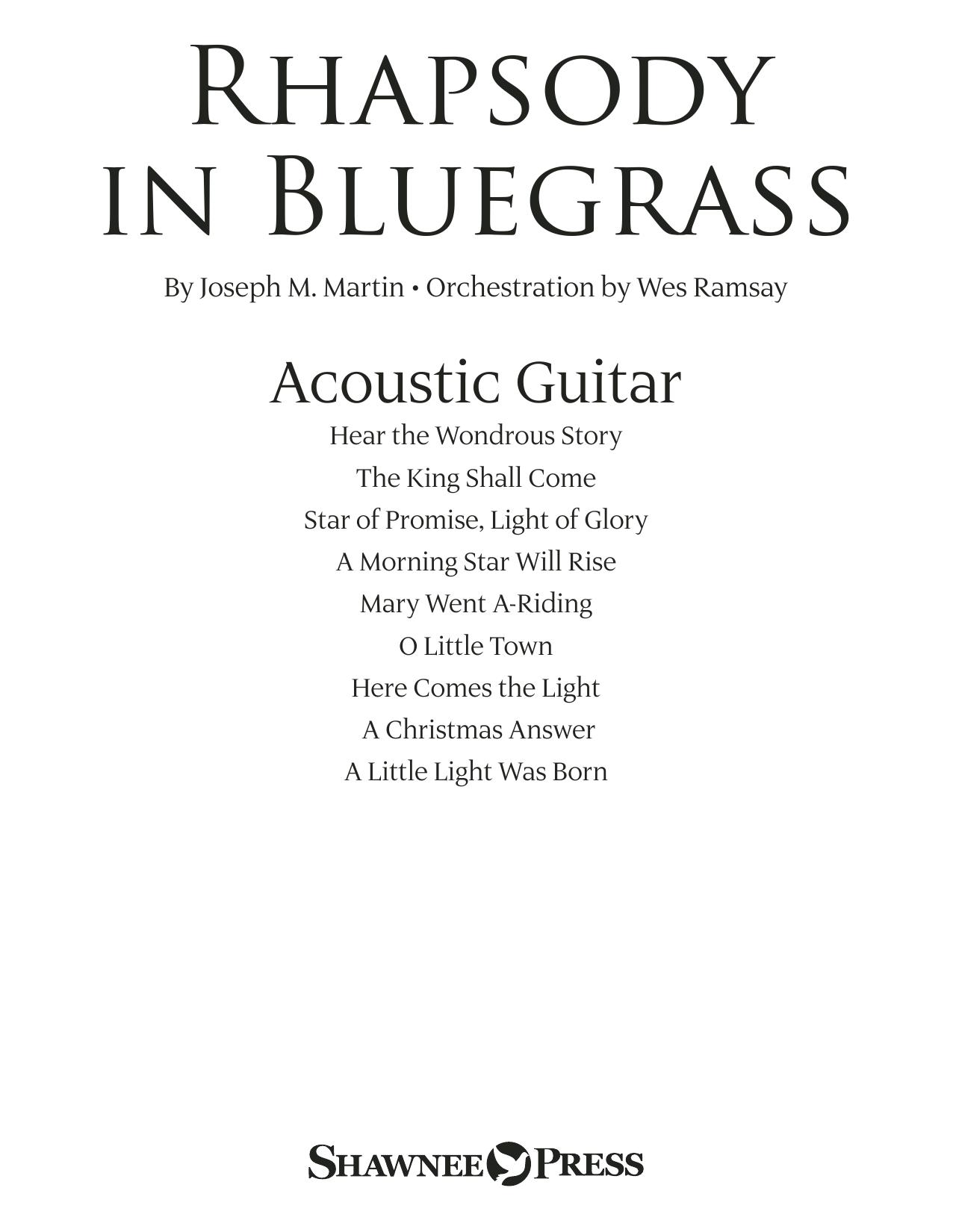Rhapsody in Bluegrass - Acoustic Guitar (Choir Instrumental Pak)