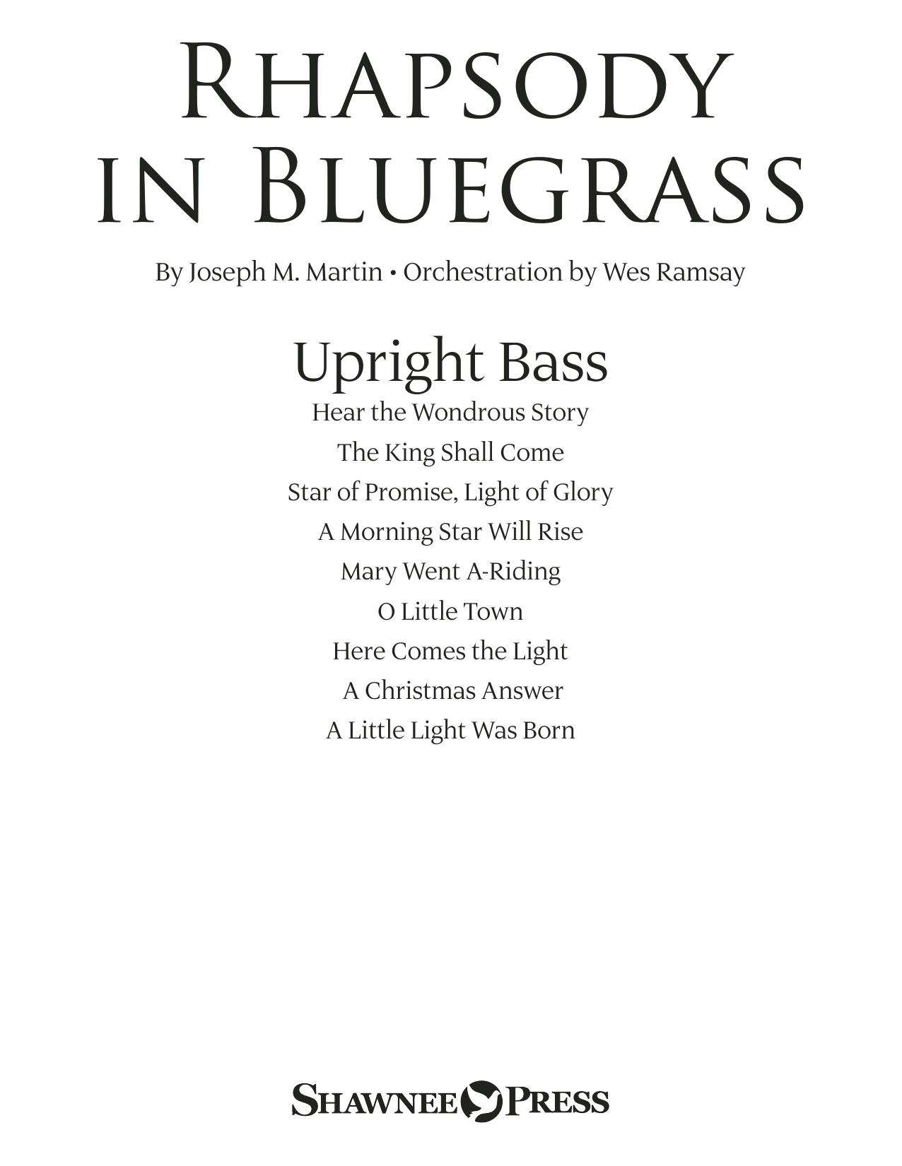 Rhapsody in Bluegrass - Upright Bass (Choir Instrumental Pak)