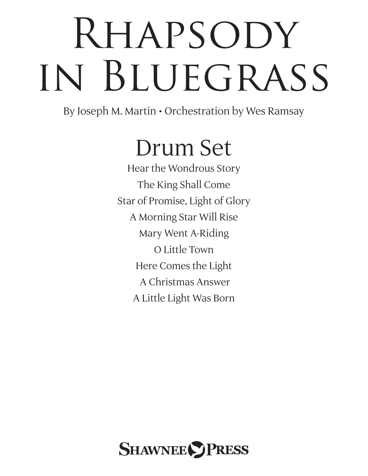 page one of Rhapsody in Bluegrass - DrumsASALTTEXT