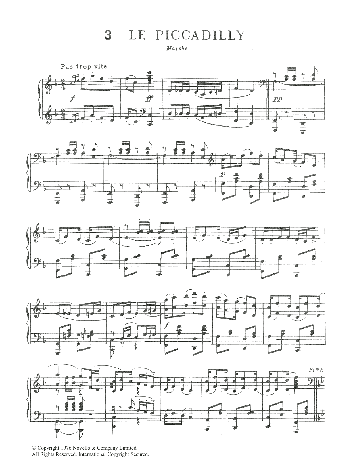 Le Piccadilly Sheet Music
