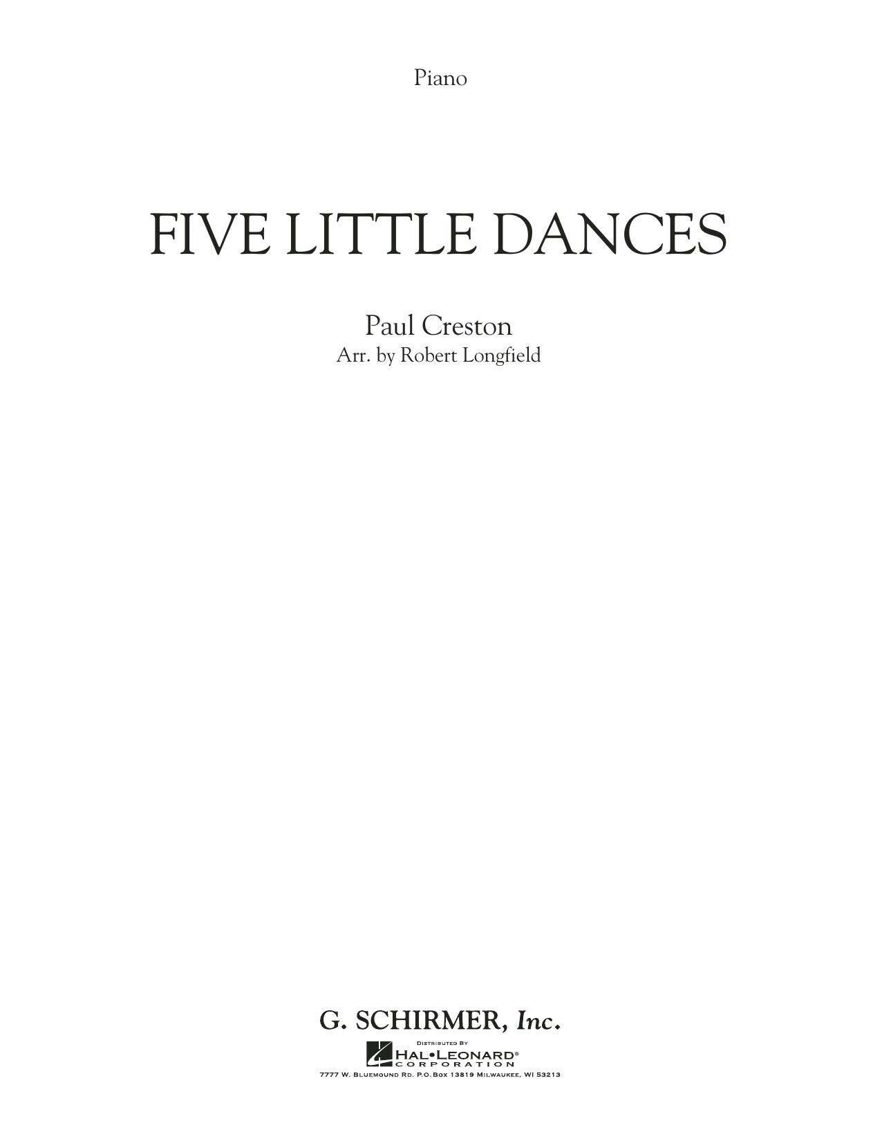 Five Little Dances (arr. Paul Longfield) - Piano (Orchestra)